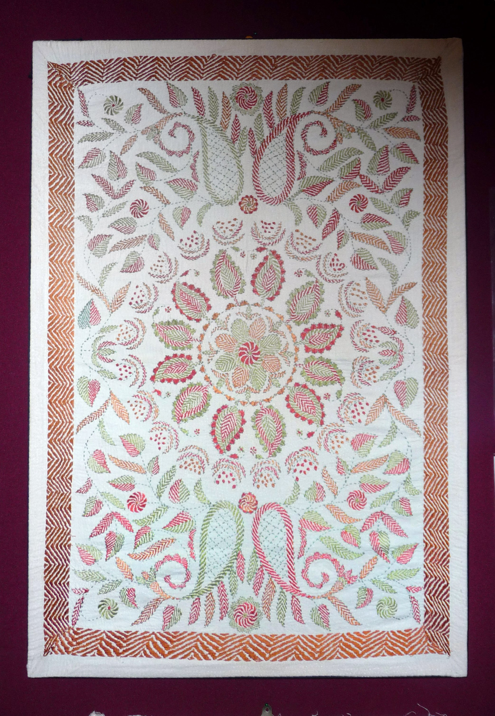 """embroidery from Sreepur """"Threading Dreams"""" exhibition, March 2015"""