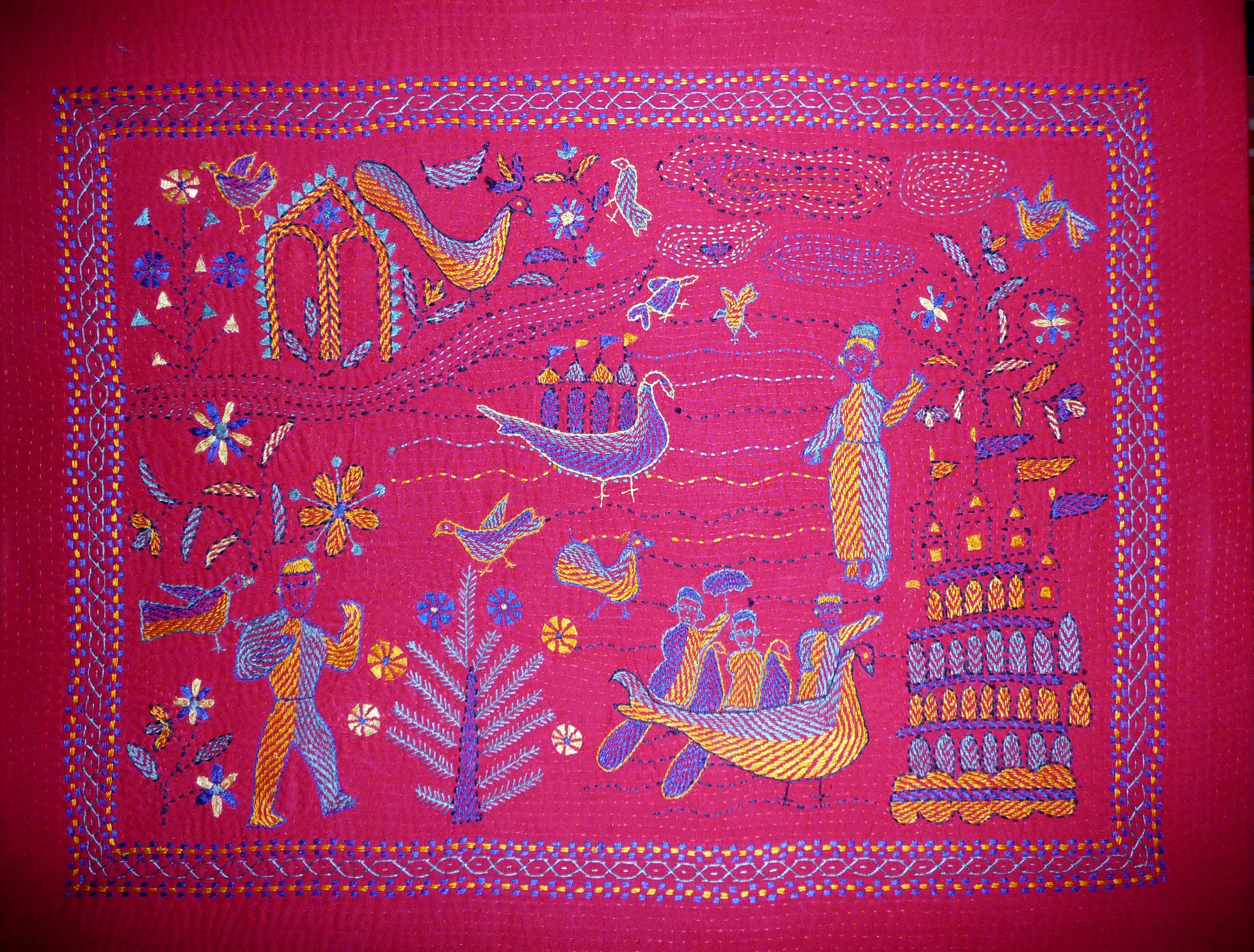 Kantha embroidery made in The Sreepur Village