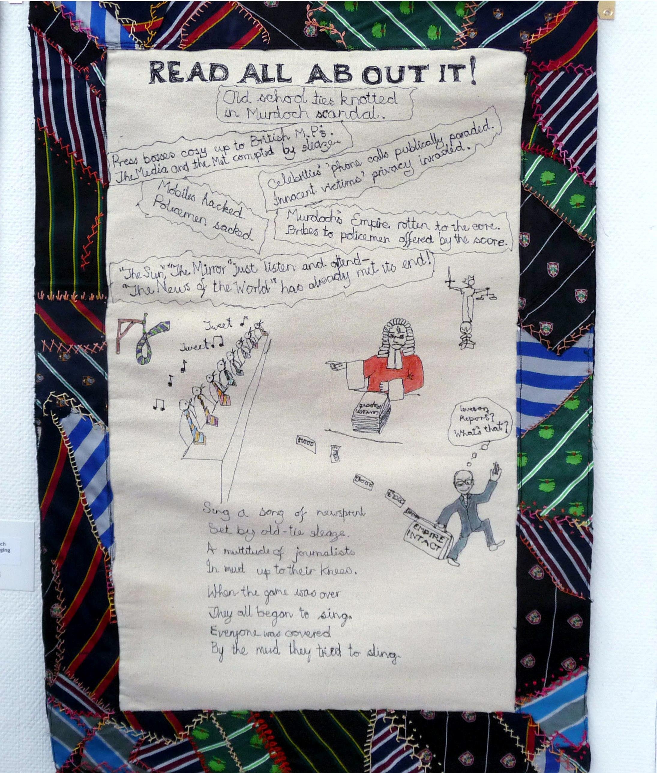 Merseyside EG Branch Tie Challenge hanging by Ann Rogers