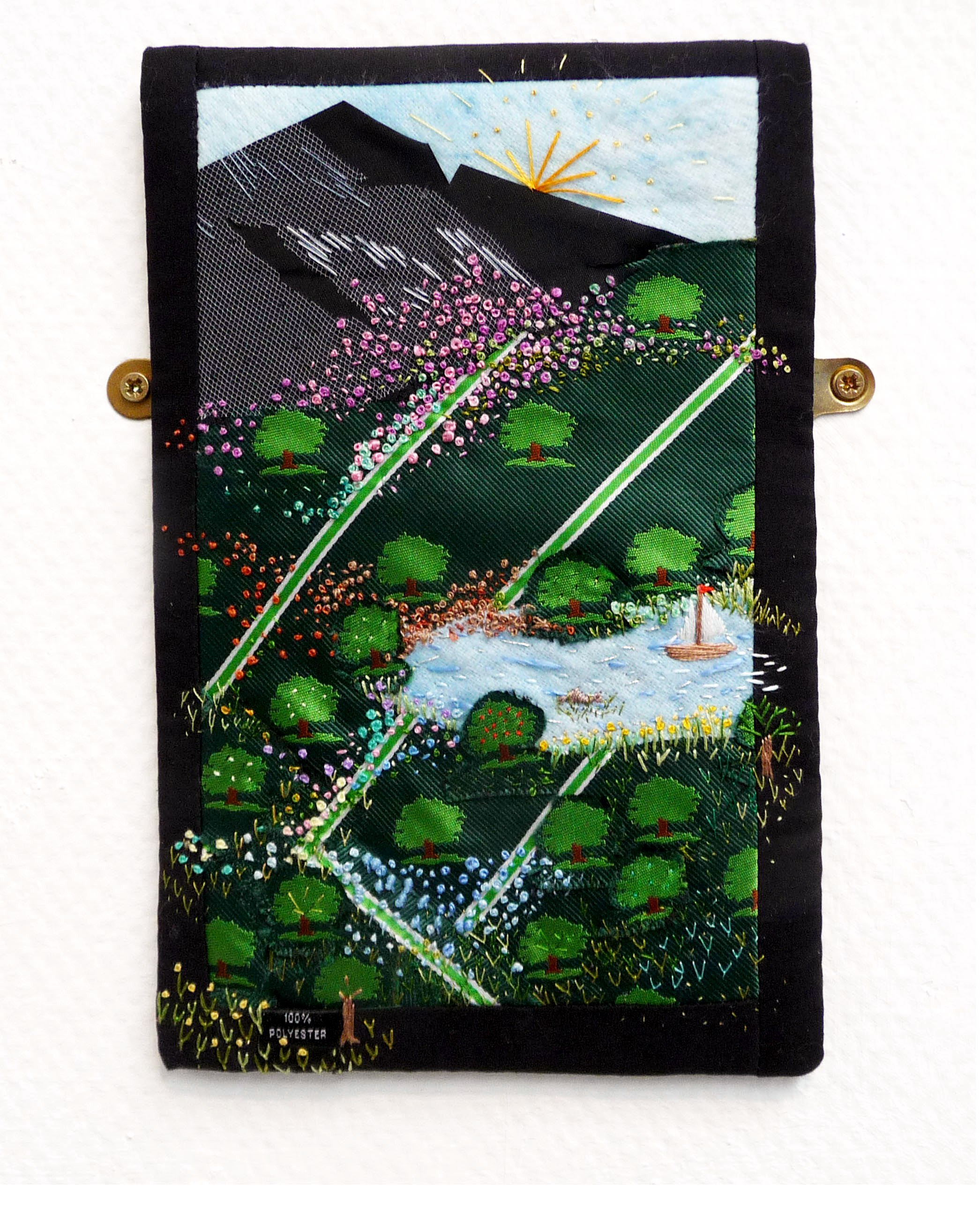 WALK IN THE COUNTRY by Christine Cuthwell, NW Reg Tie Challenge, applique and hand stitching