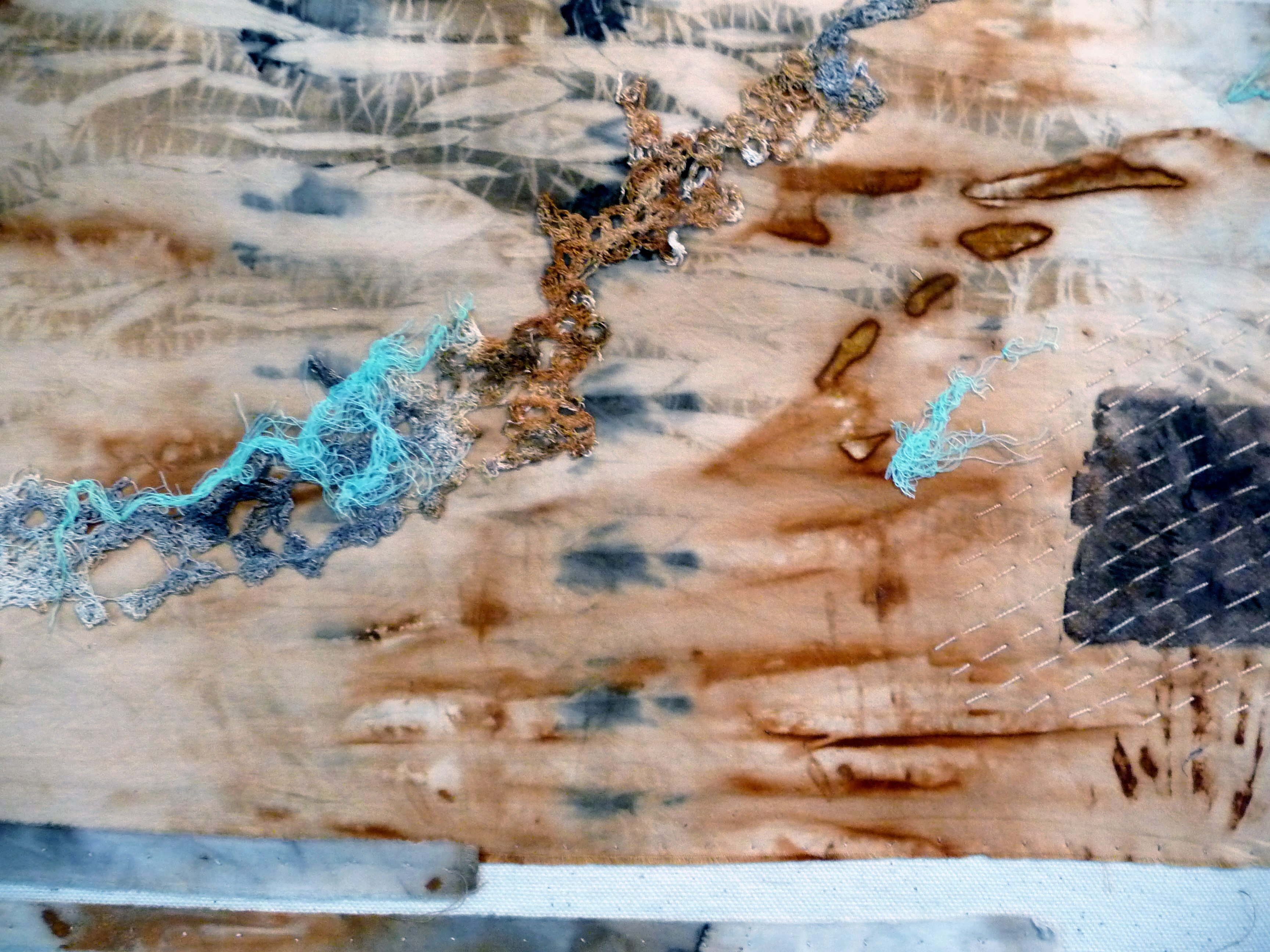 detail of TIDE MARKS II by Sue Reeve