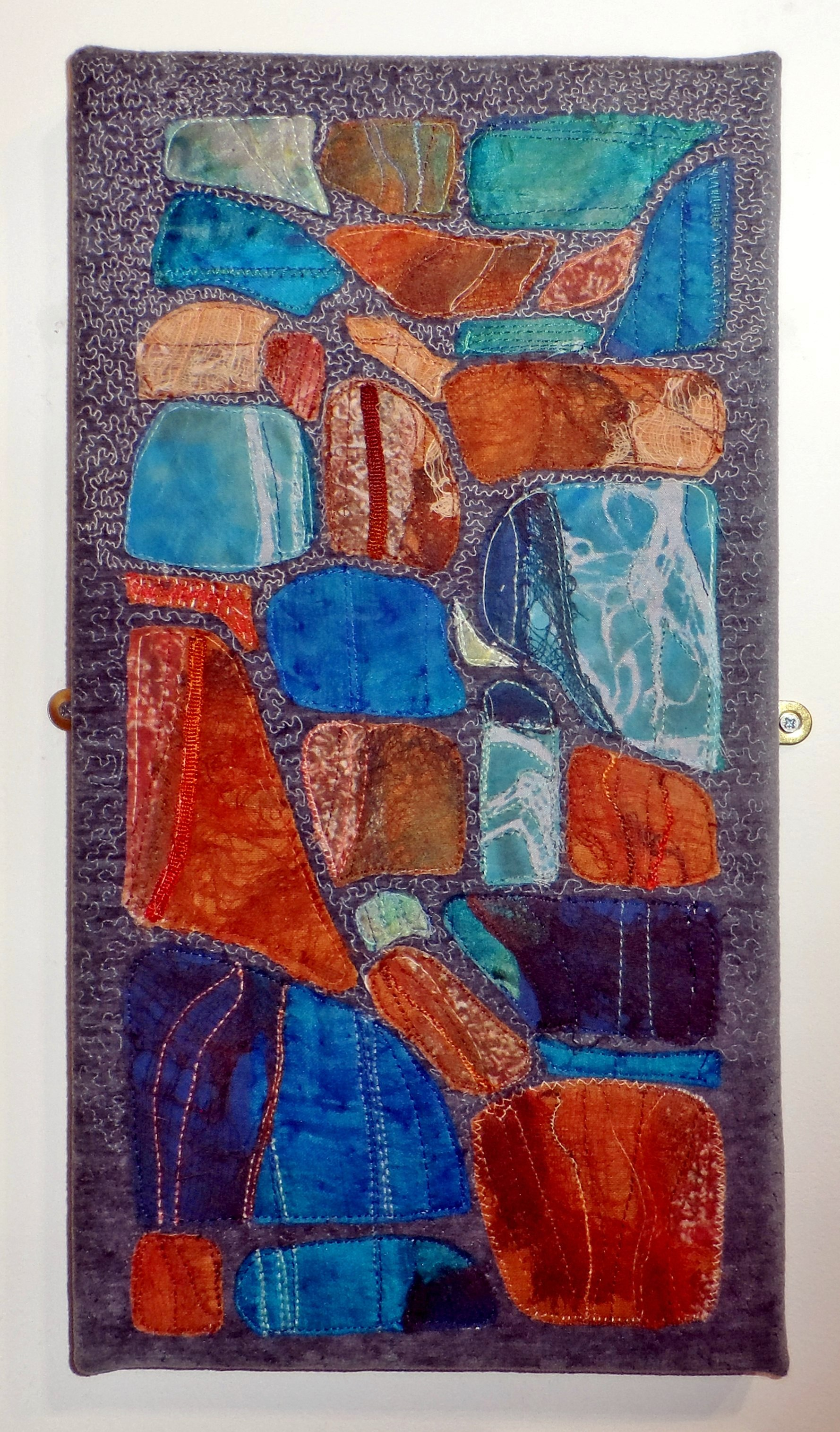 THE STONES REMAIN by Mary Bryning, Re-View Textile Group, Frodsham 2019