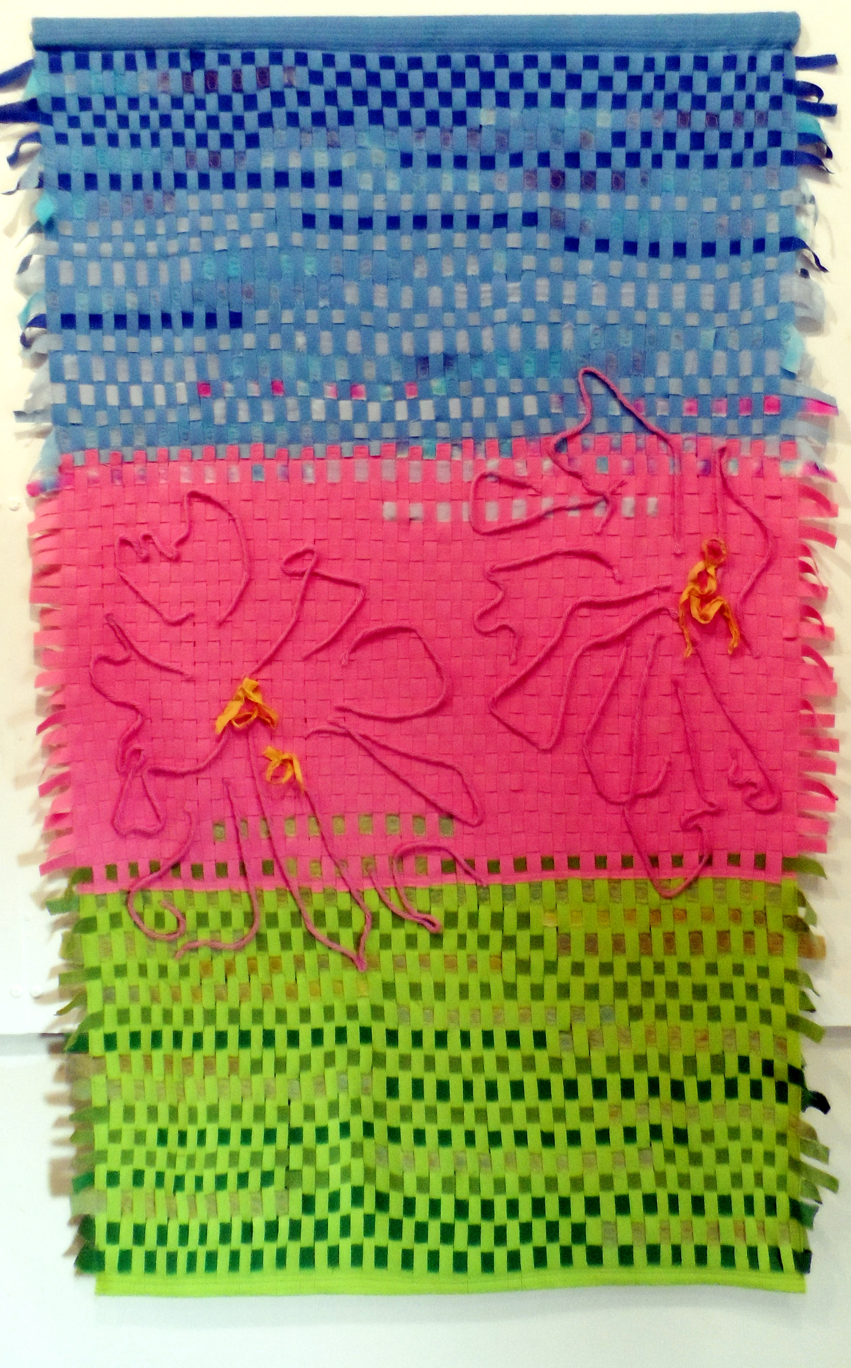 SPRING by Janet Wilkinson, weave & stitch, Re-View Textile Group, Frodsham 2019