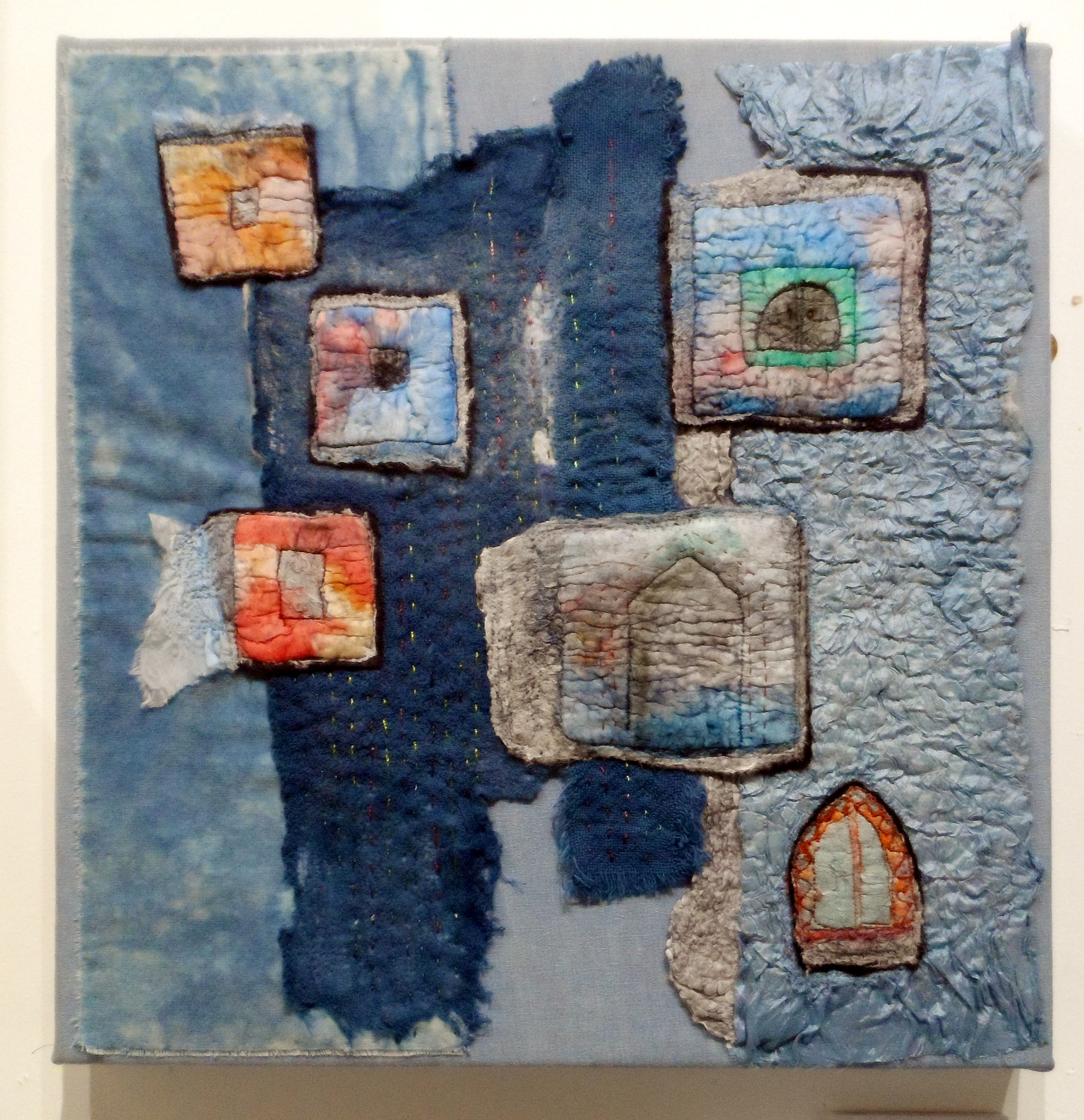 BLUE CITY by Rosey Paul, Re-View Textile Group, Frodsham 2019