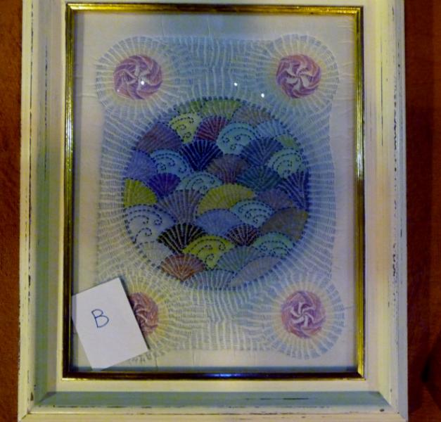 Kantha syle embroidery