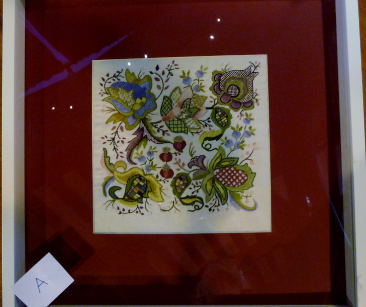 Jacobean crewel work design- and winner of the First Prize at the Traditional Embroidery competition 2012