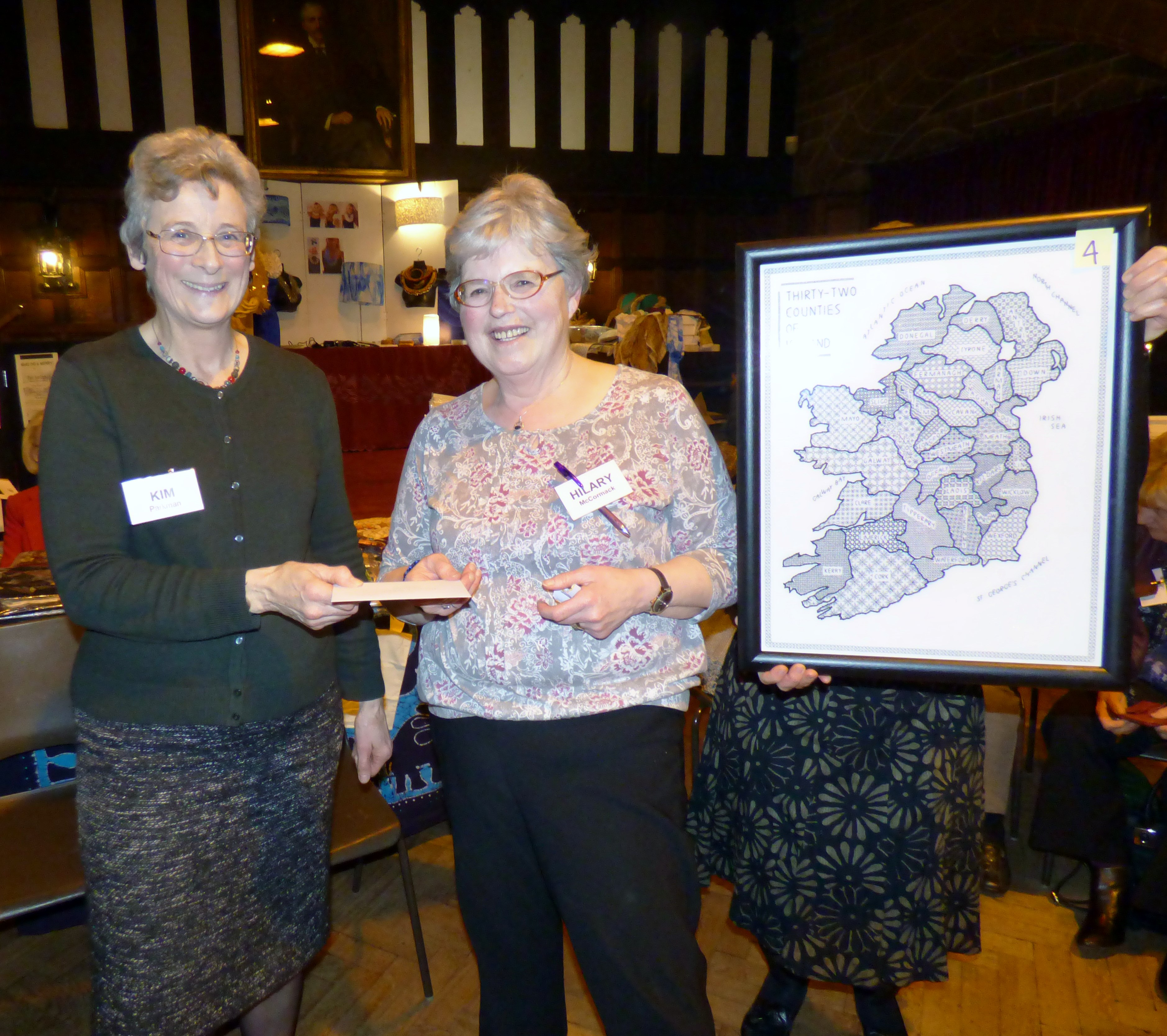 Hilary McCormack with her winning entry to Traditional Stitch Competition at MEG Winter Fair 2016