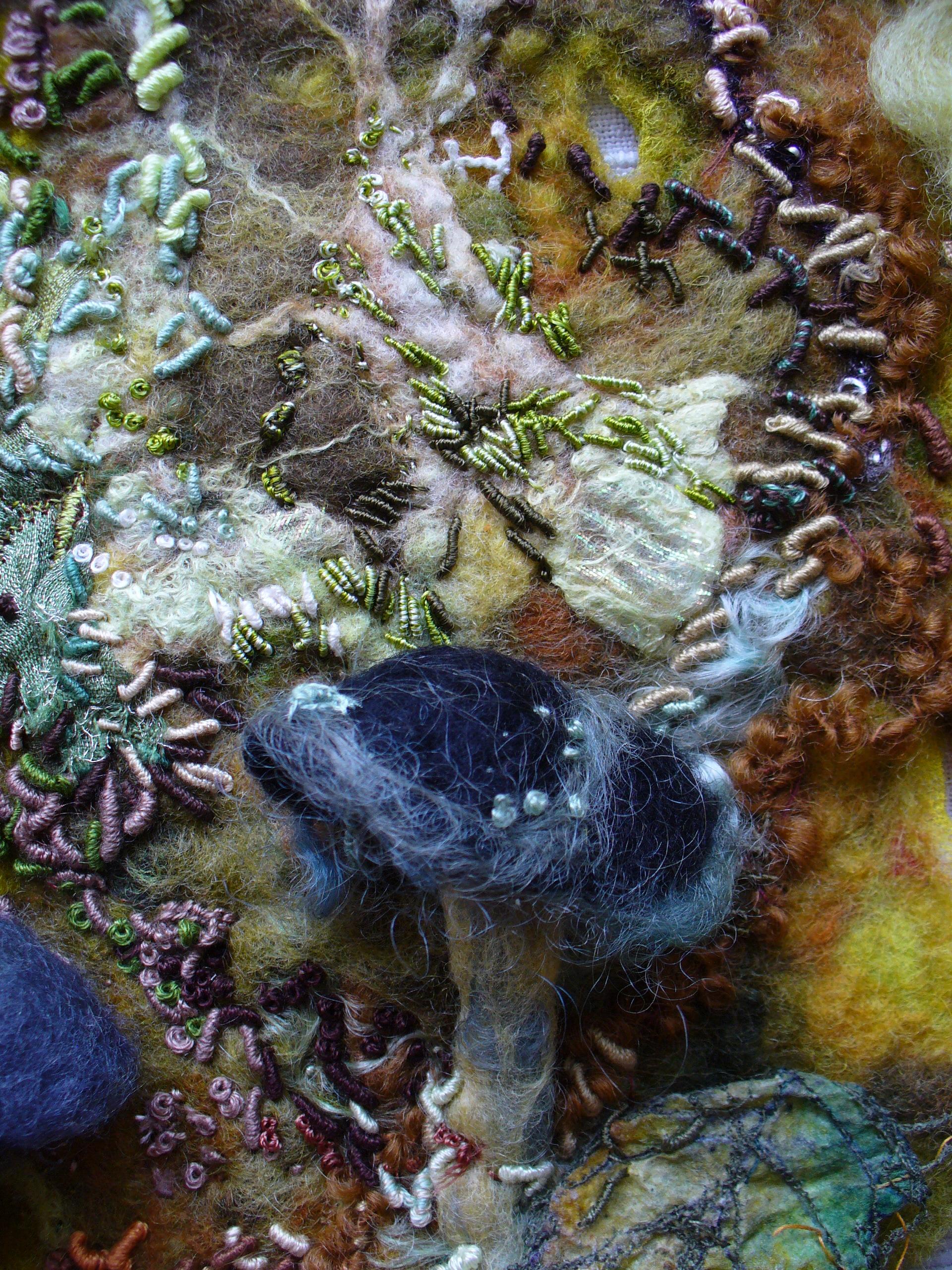Enchanted Wood II (detail) by Cathy Turner