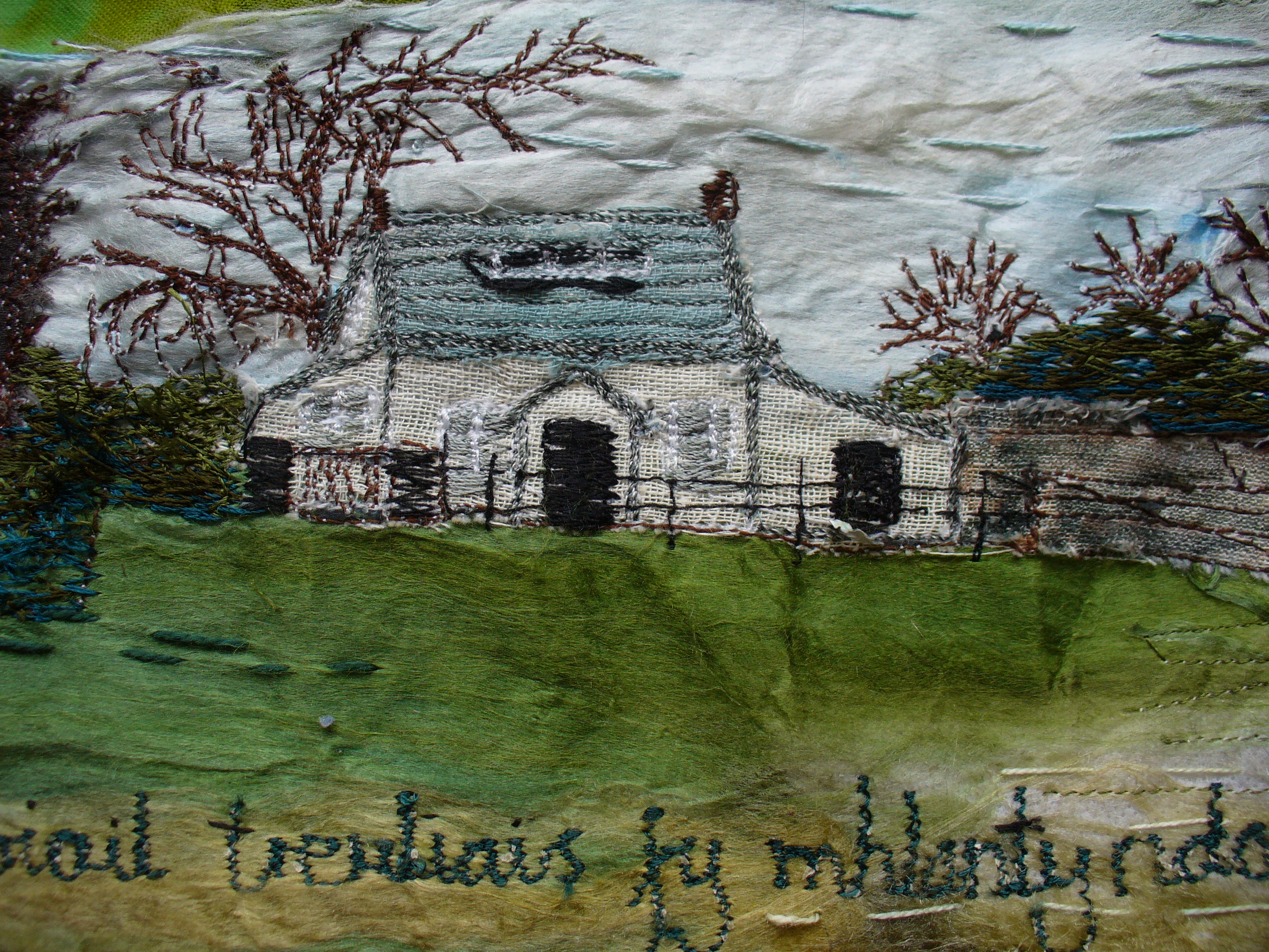 How Green Was My Flintshire (detail) by Ann Rogers