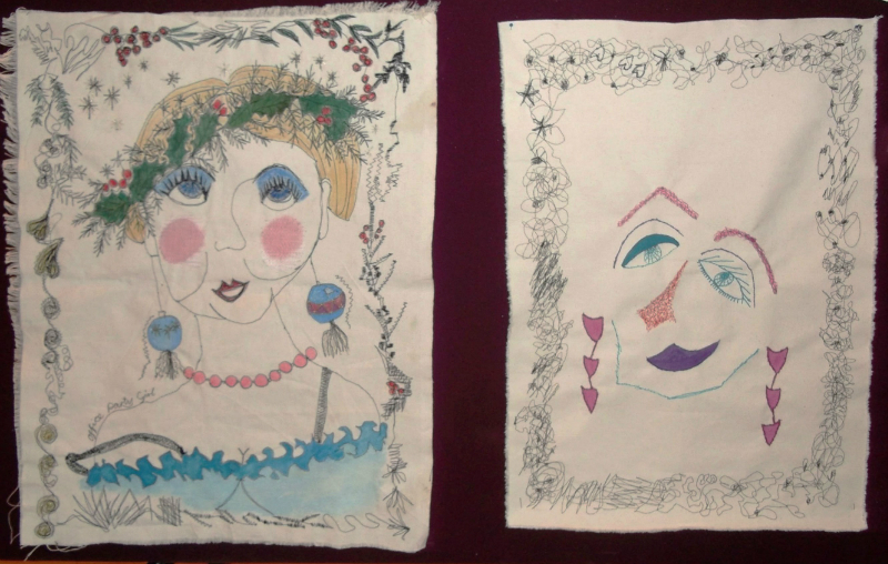 Samples from Louise Gardiner workshop -  OFFICE PARTY GIRL by An