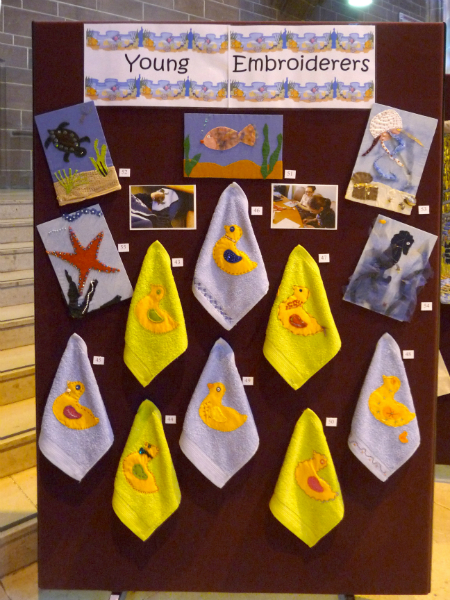 YE applique ducks made by Sophie, Orla, Grace, Tayla, Maisie, Siobhan and Milla - also applique pictures made by Milla, Tayla, Orla and Naomi