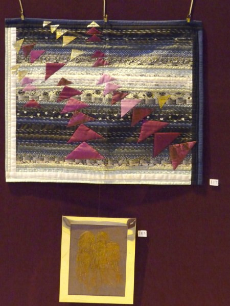 Quilt by Norma Heron and embroidery by Sylvia Roberts
