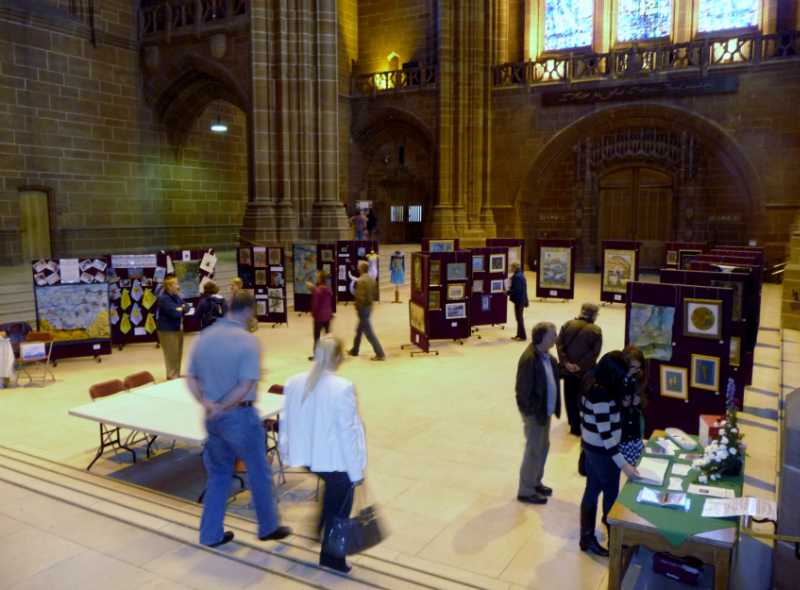 WATER exhibition, Liverpool Cathedral 2012