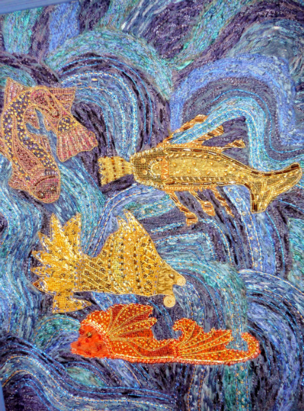 ORIENTAL WATERS (detail) by Mira Hall