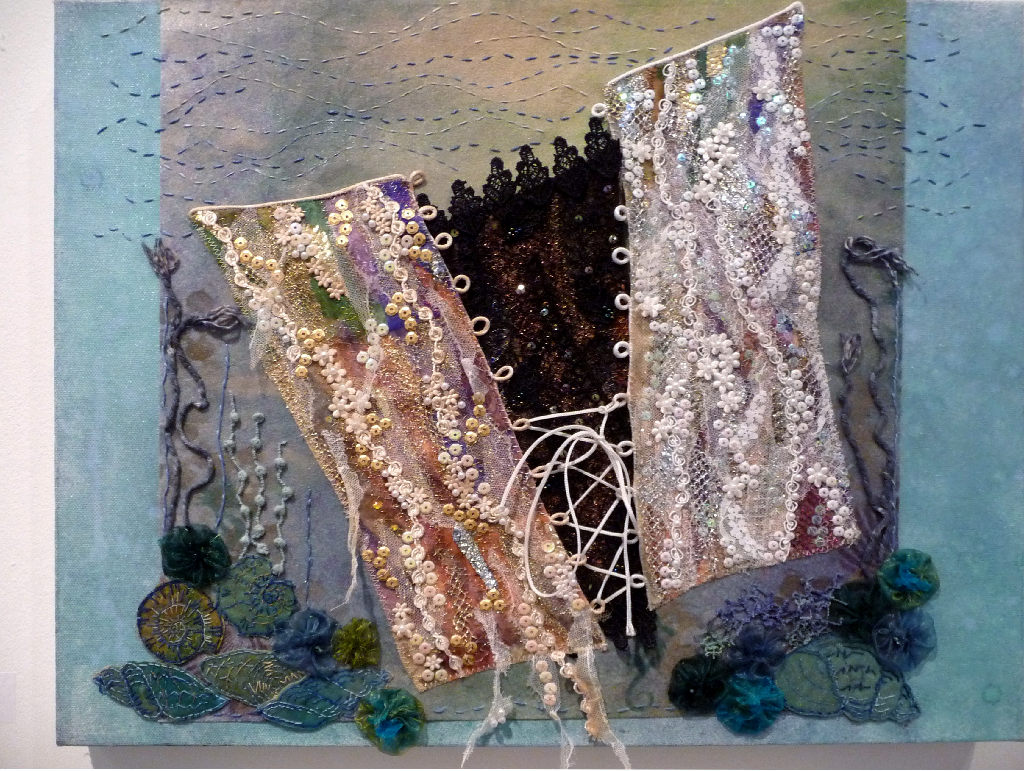 THE WATER HORSES BRIDE by Barbara Ryall, machine and hand embroidery