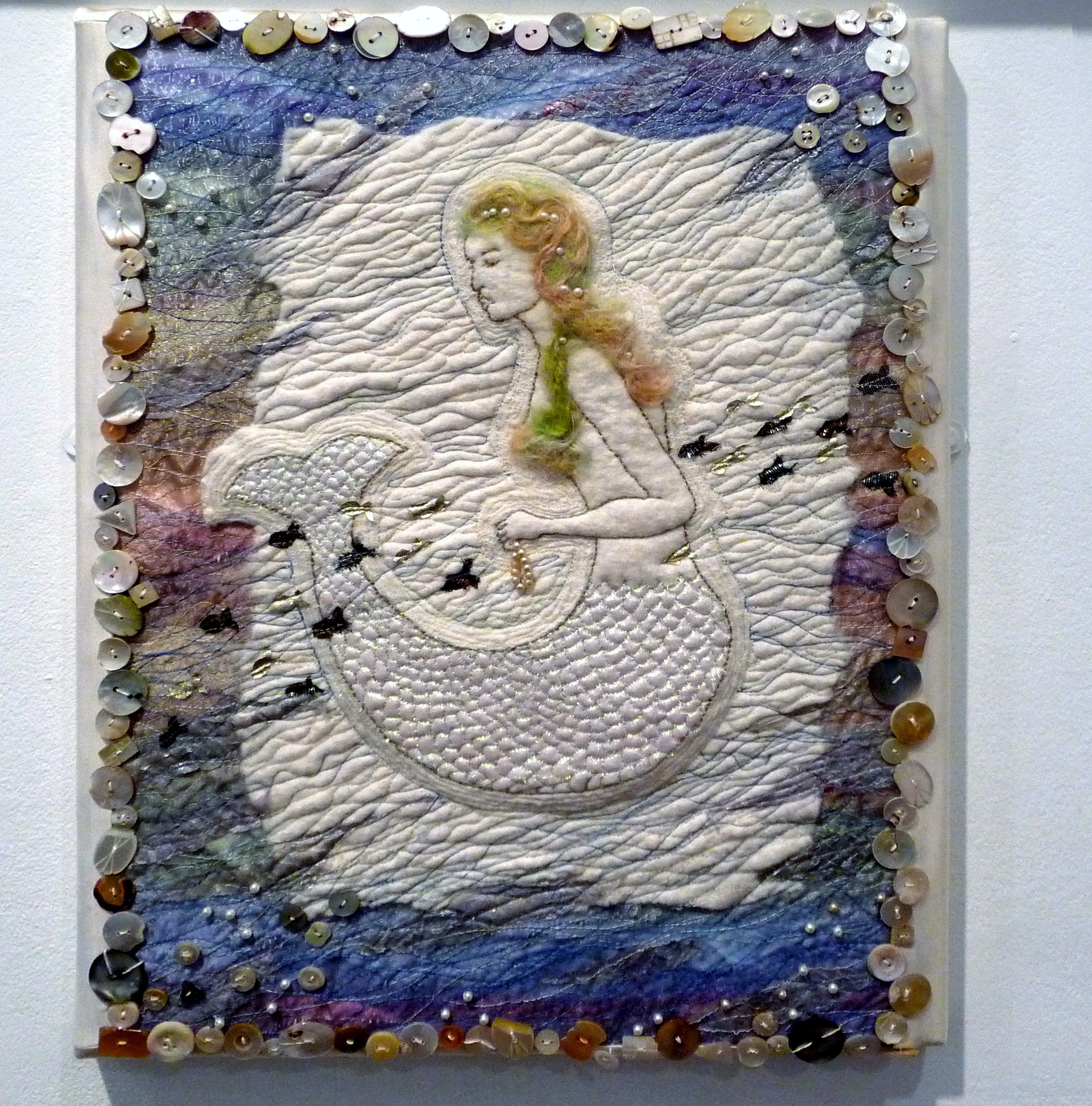 PEARL'S A MERMAID by Marilyn Fletcher, mixed media