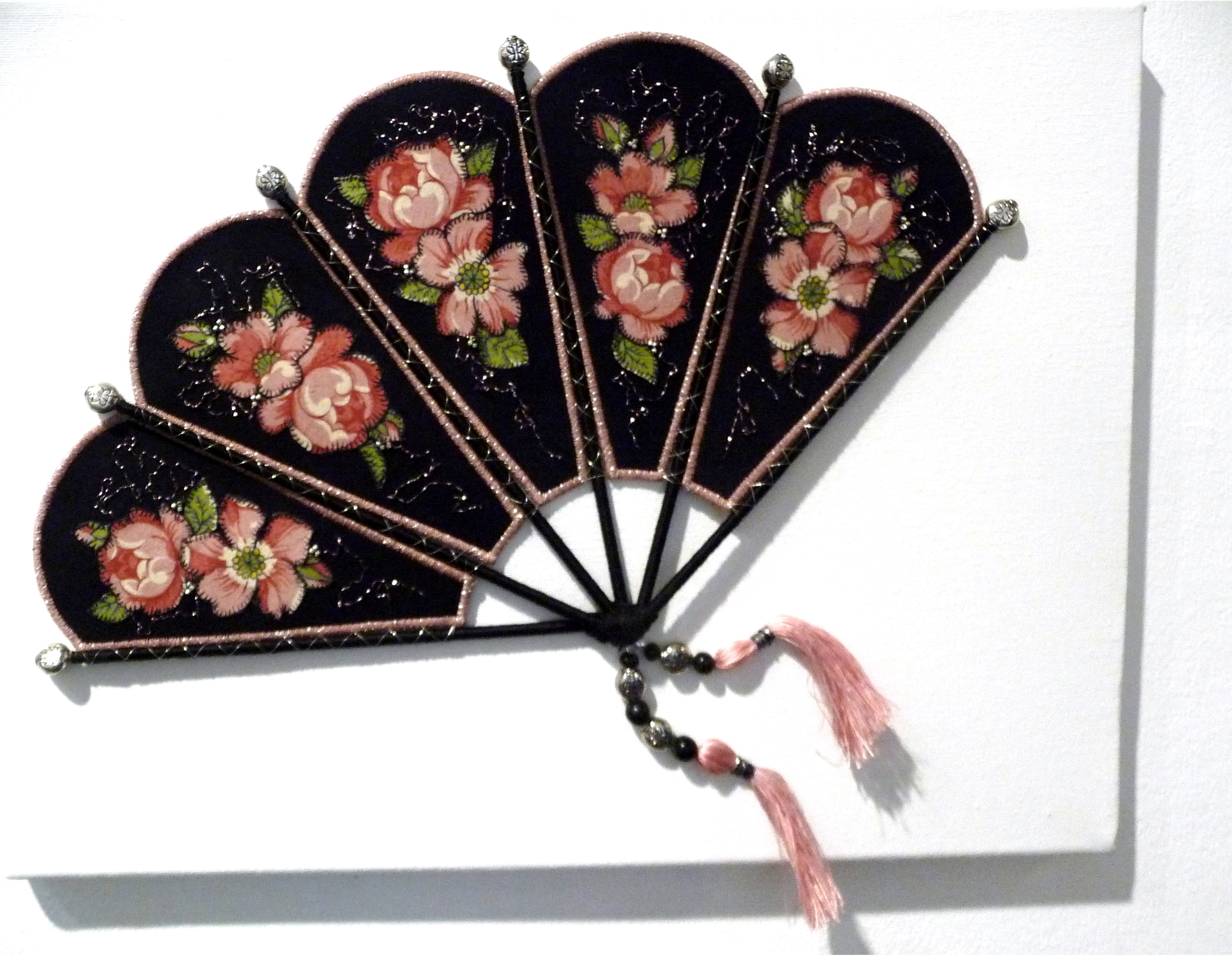 A FAN by Jackie Martin, embroidery persse