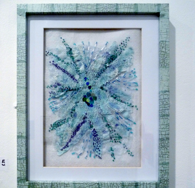 CRETAN SEA by Brenda Franklin, mixed media