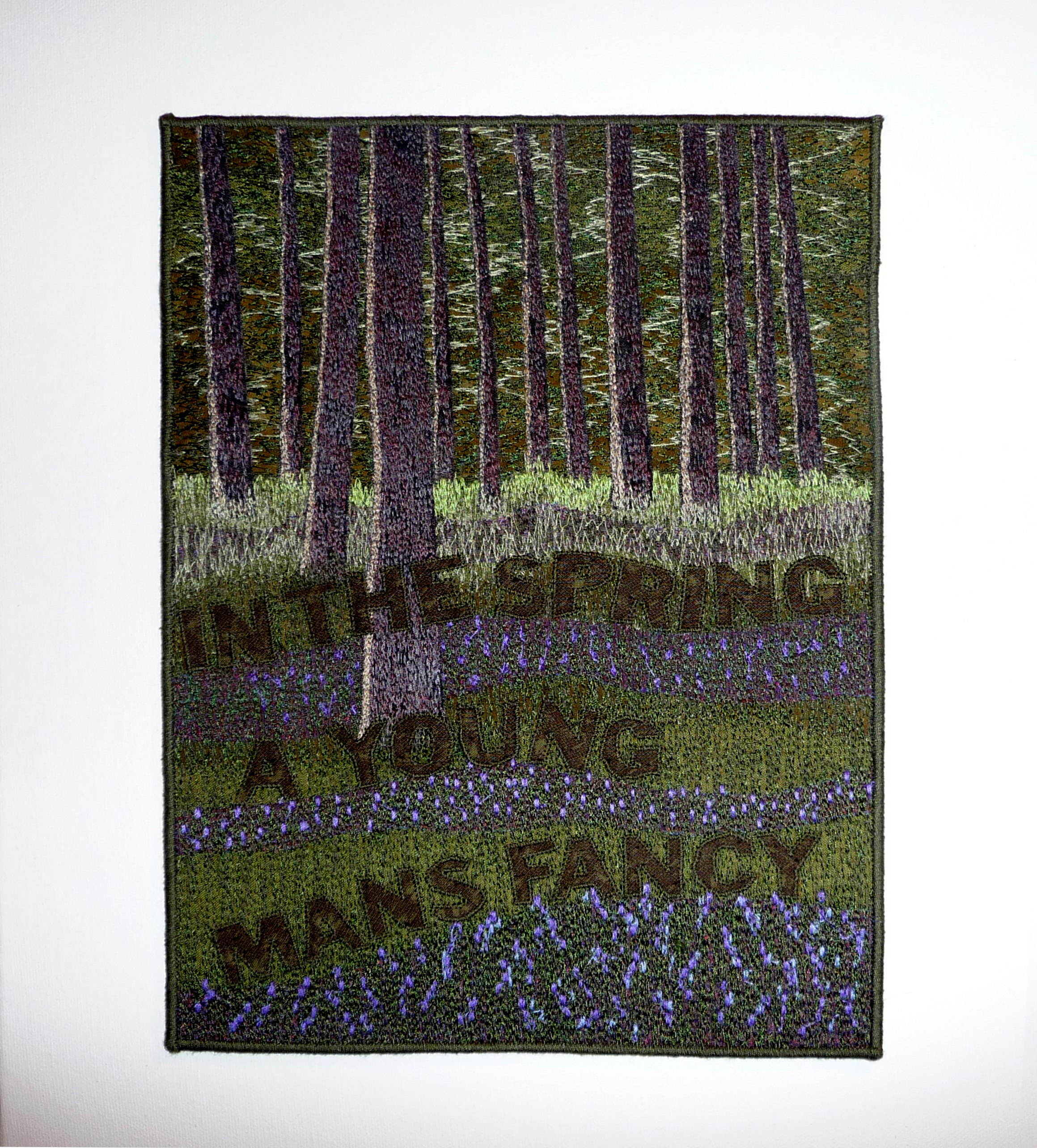 SPRING by Jackie Martin, machine embroidery