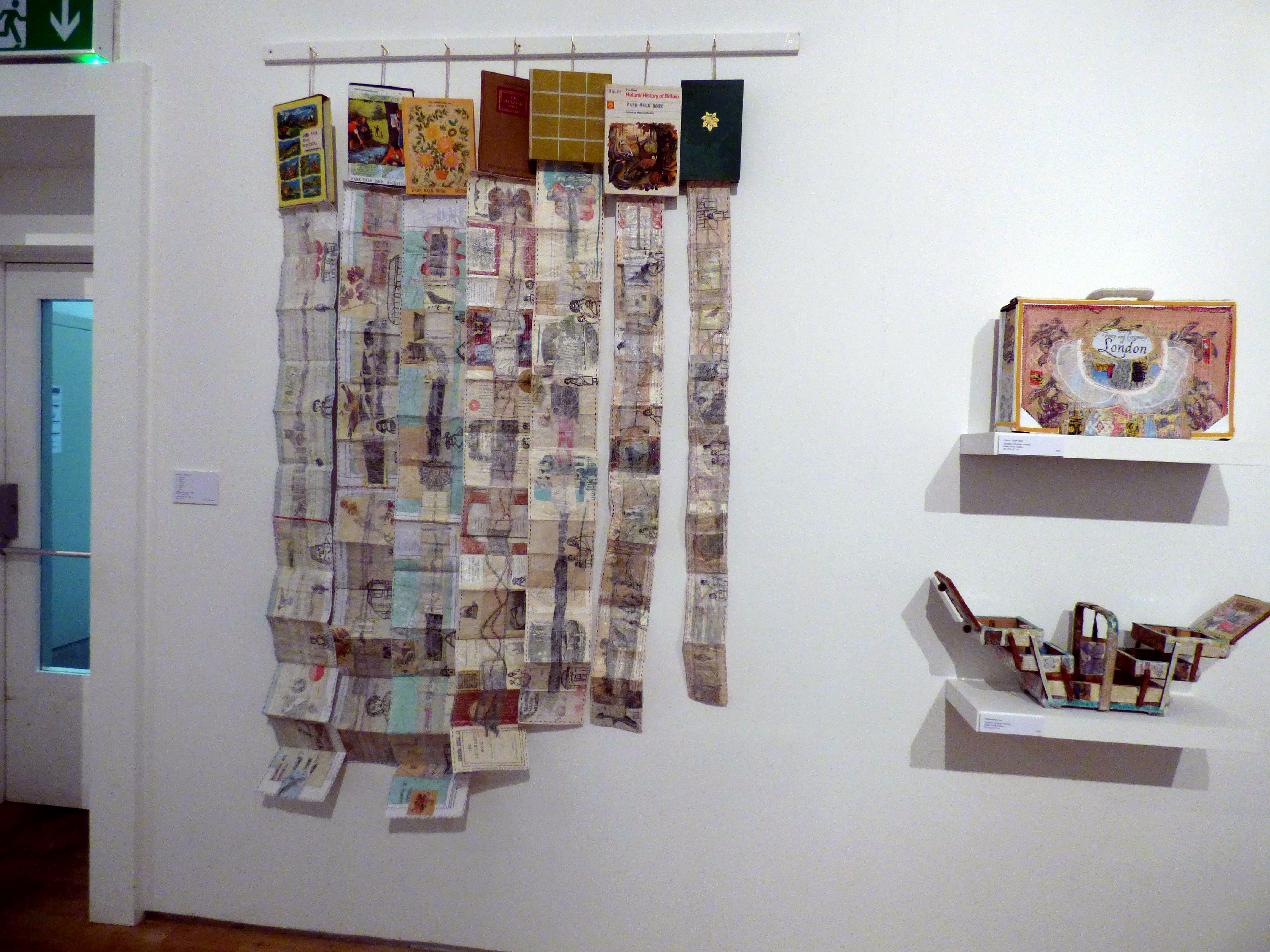 PARK WALK SKETCHBOOKS, mixed media textiles by Anne Kelly, Ruthin Craft Gallery, July 2021