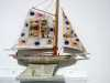 SAILING BOAT, mixed media textiles by Anne Kelly, Ruthin Craft Gallery, July 2021