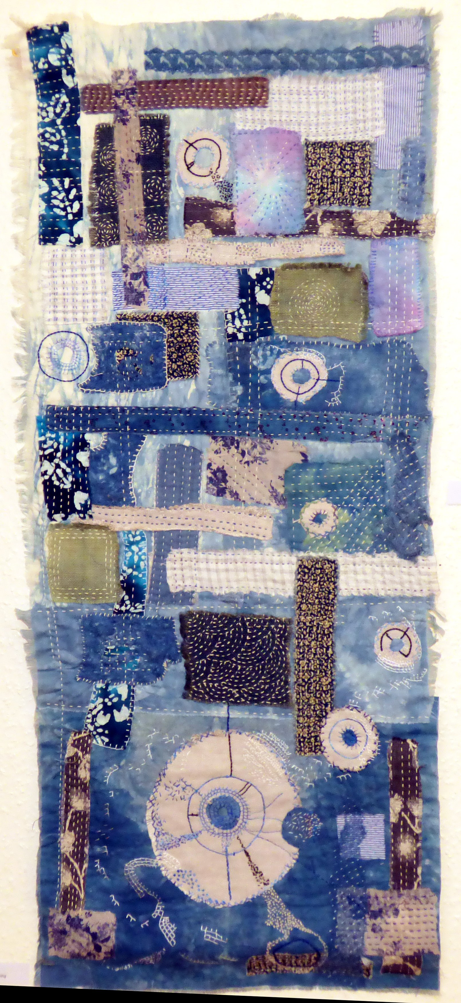 BORO CLOTH by Janet Janis, patchwork and hand stitching
