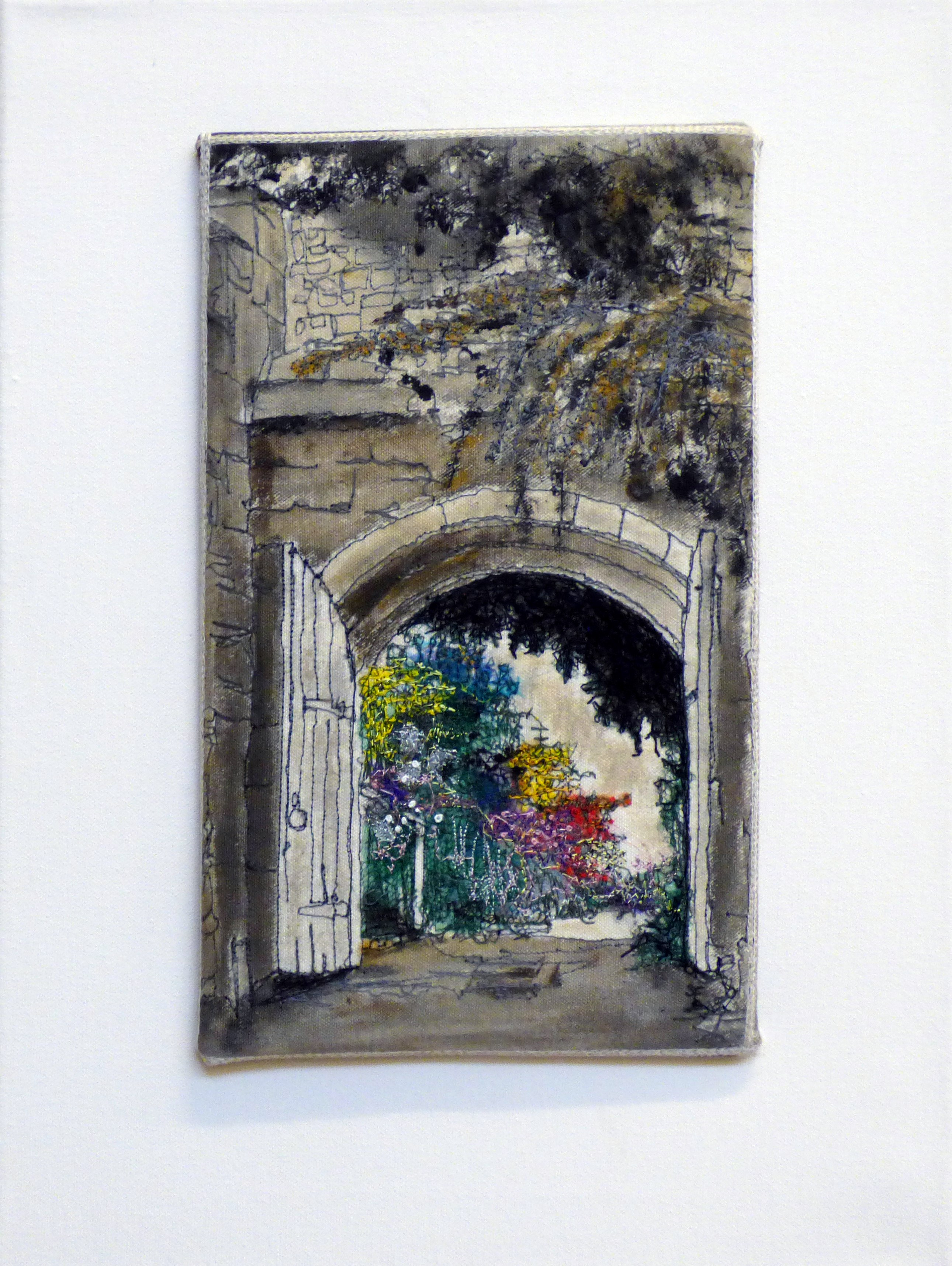 THROUGH THE GATE by Sheila Foggin, from a photo at Chirk Castle