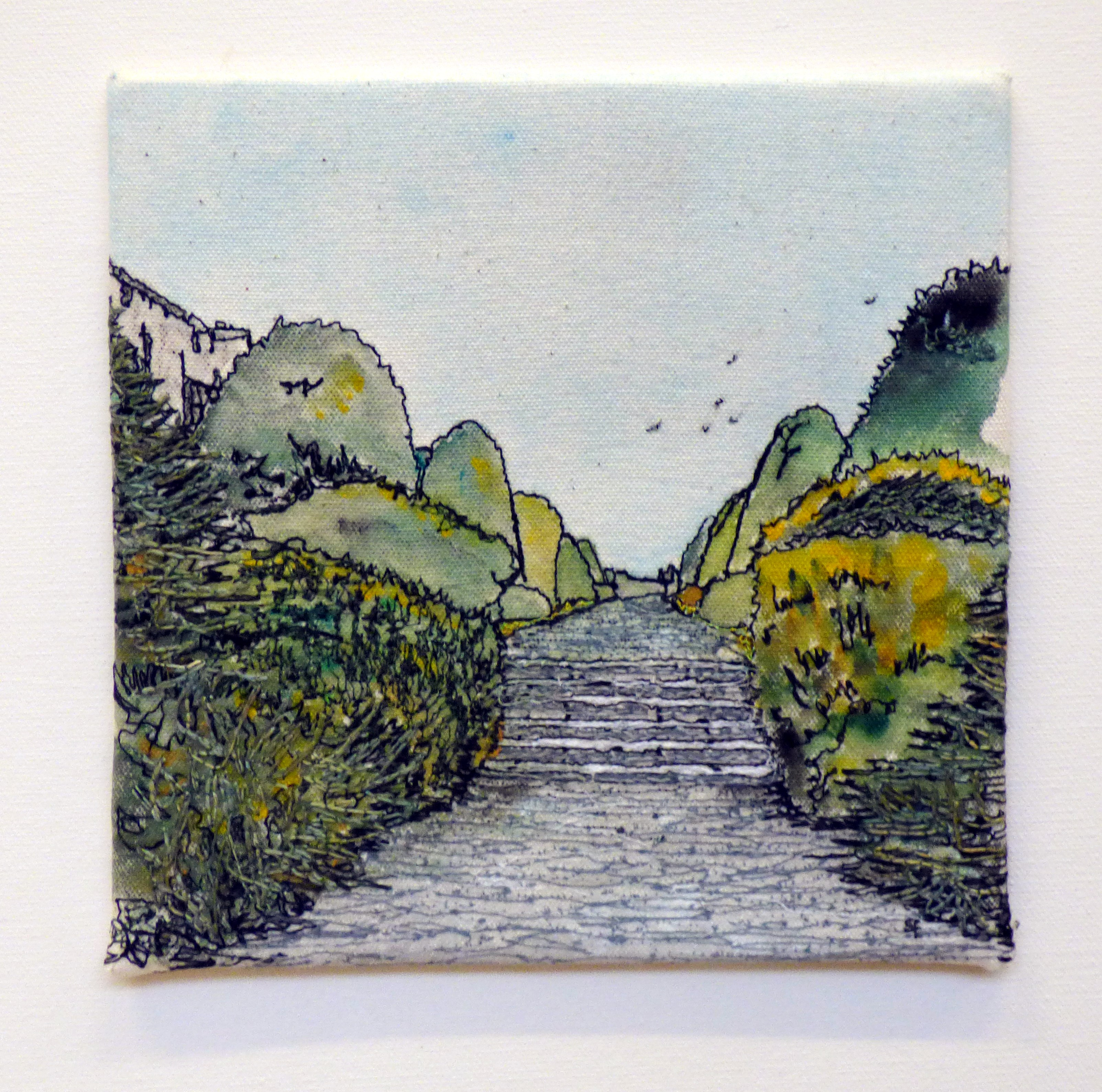 ALONG THE PATH by Sheila Foggin, from a photo at Chirk Castle