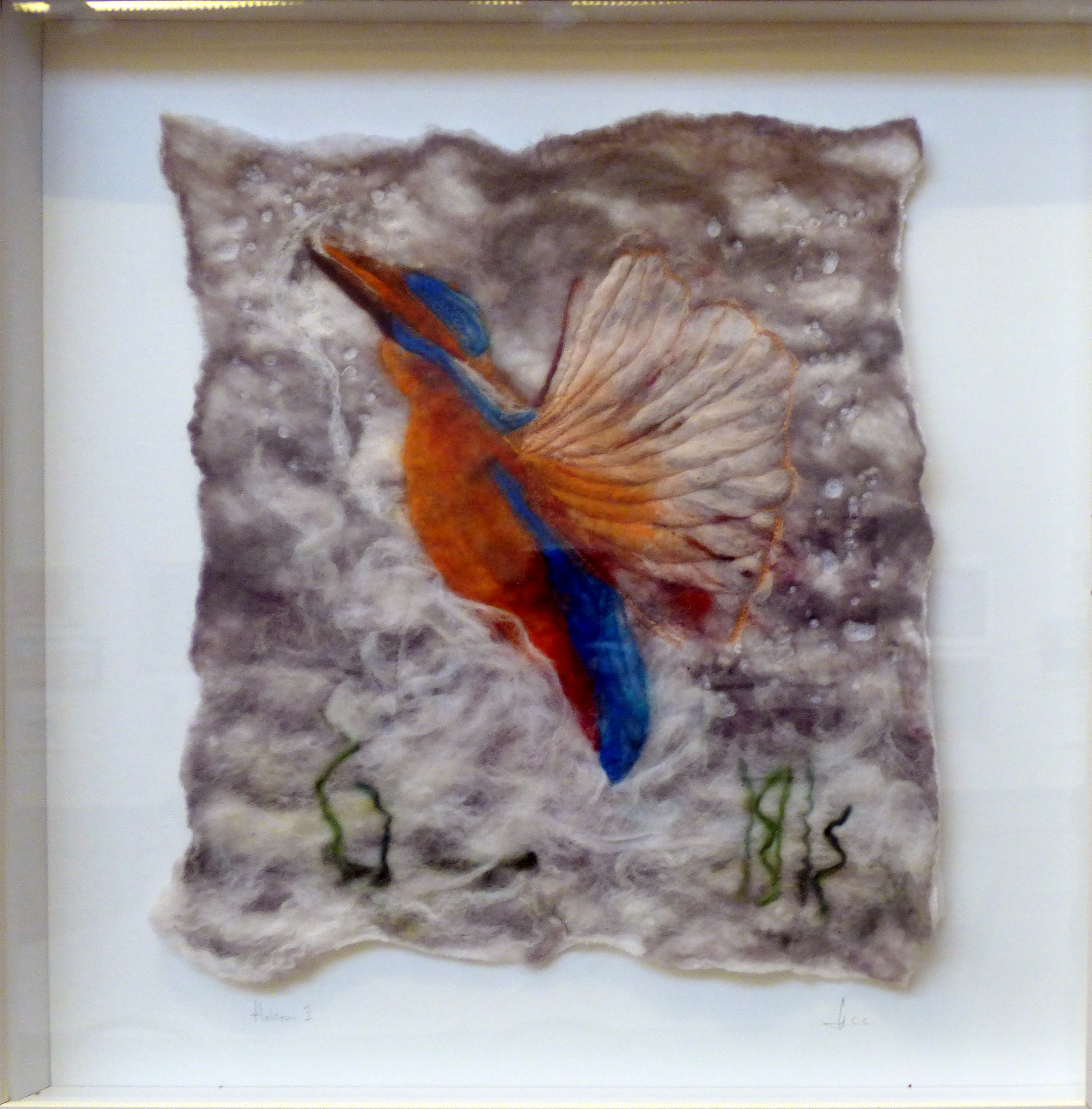 HALCYON 1 by Helen Cooper, wet felting, machine and hand stitching