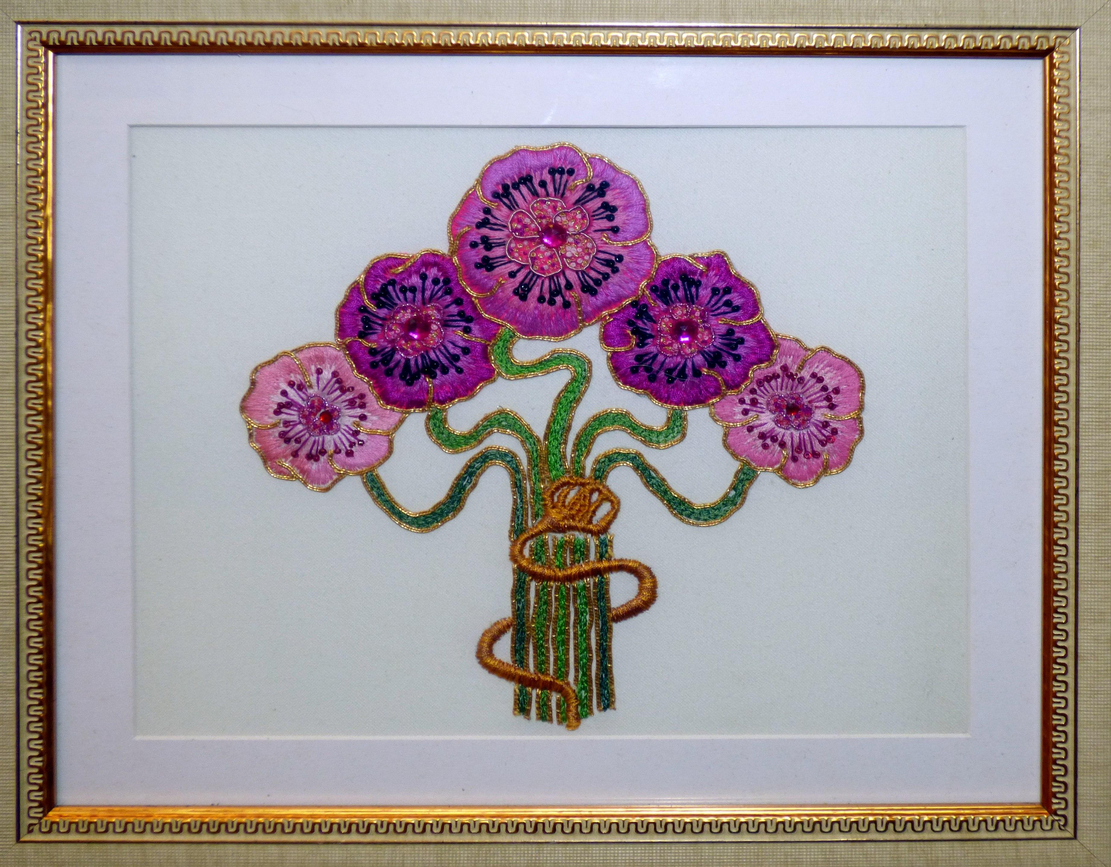GOLDWORK FLOWER by Liz McCarroll, gold work