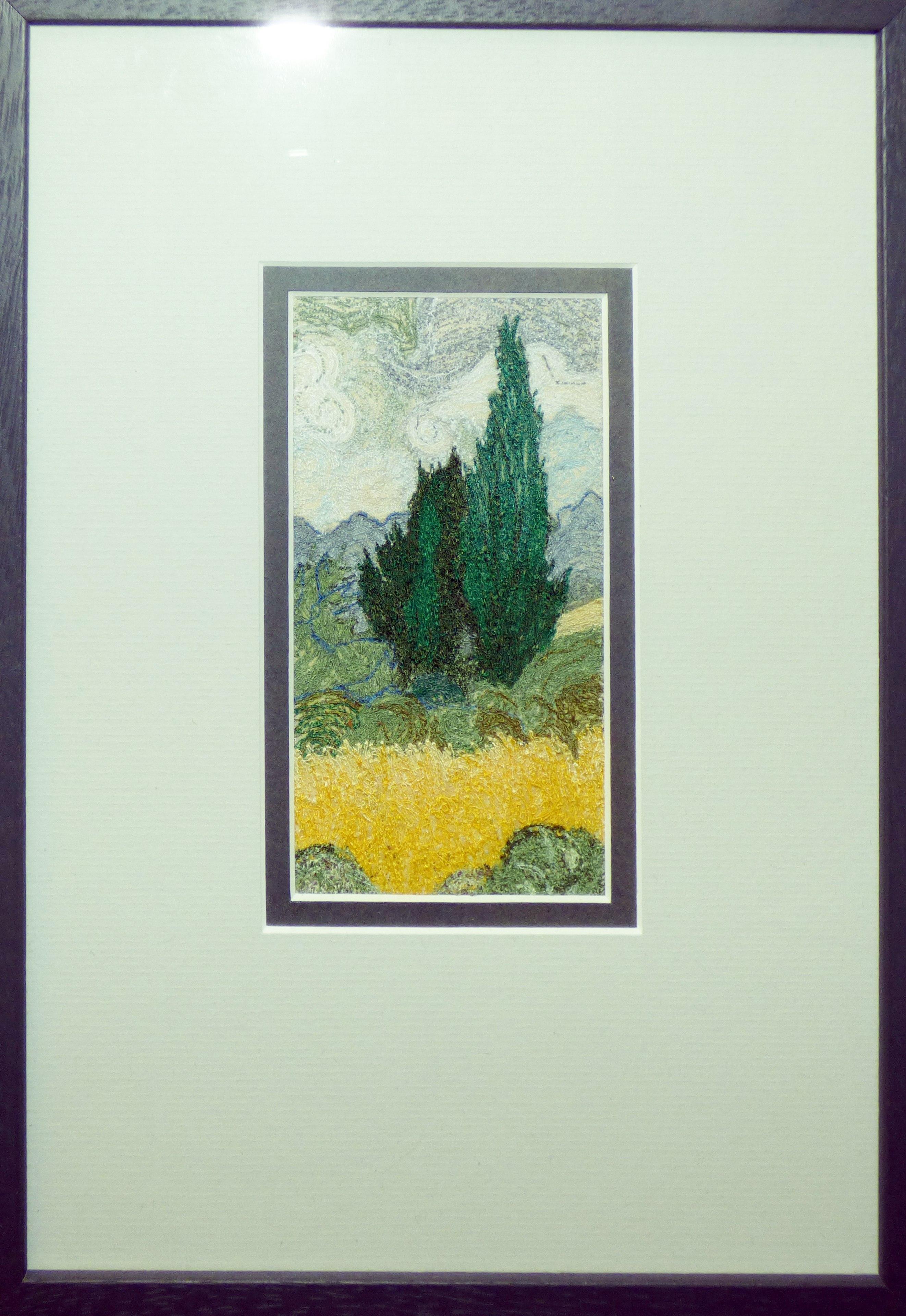 VAN GOGH'S TREE by Grace Mitchell, machine stitching