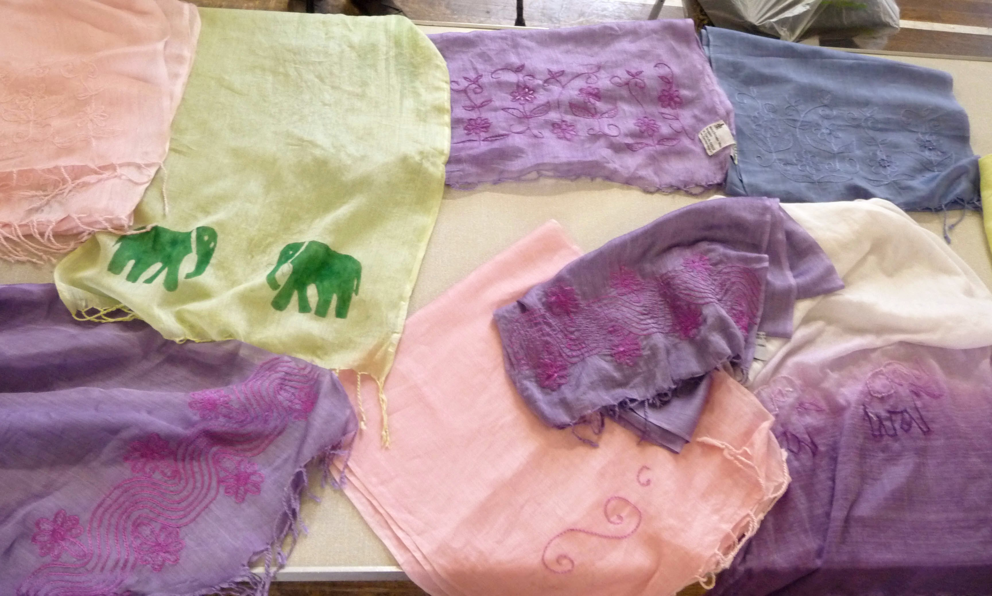 here are some of the results of our Scarves for Sreepur Workshop 2014