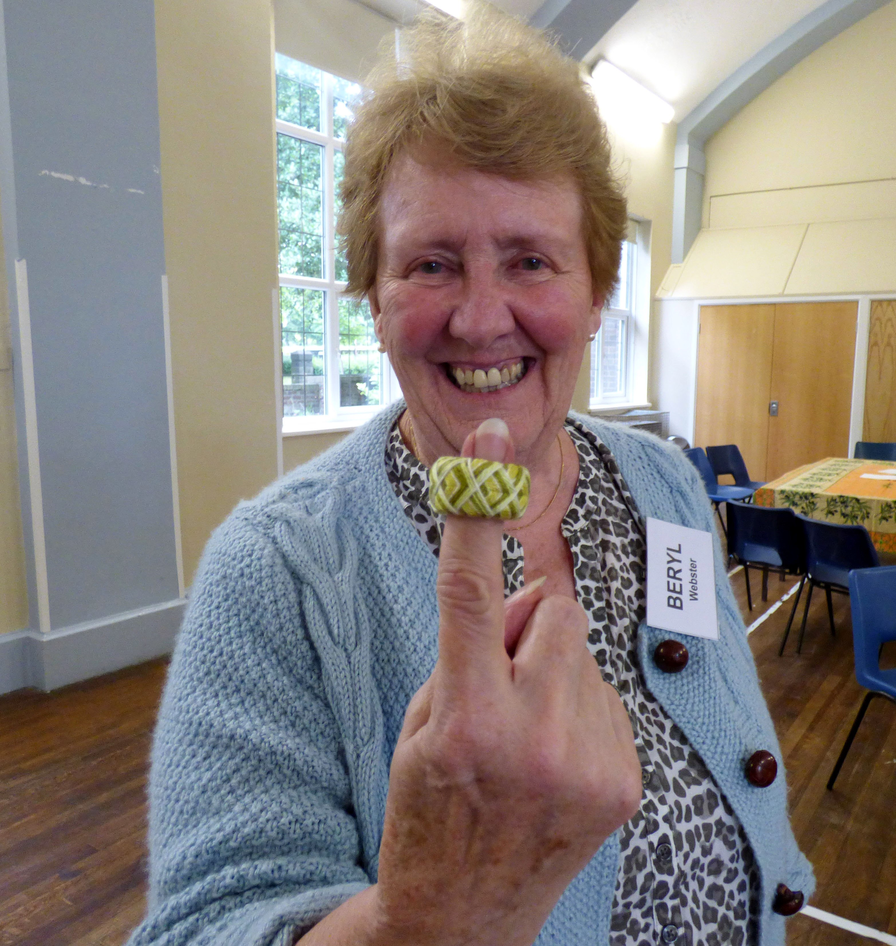 "first completed thimble at Kathryn Thompson's ""Japanese Thimbles"" workshop"
