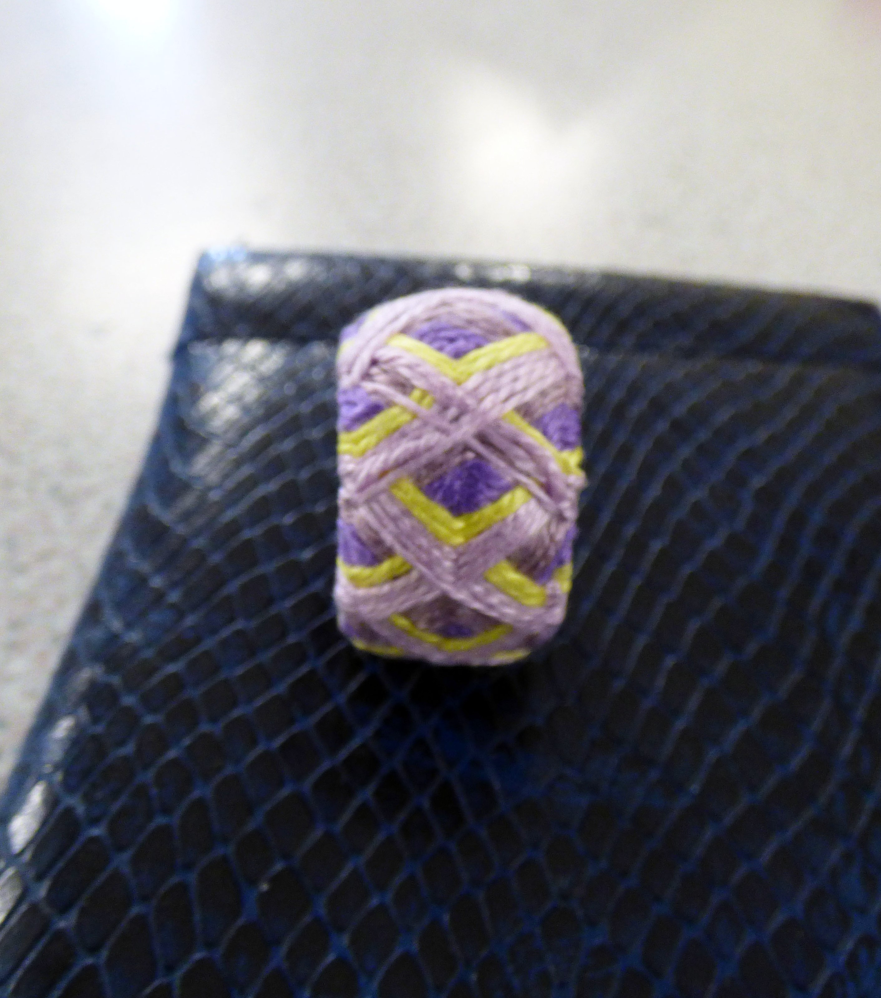 "student's work at Kathryn Thompson's ""Japanese Thimbles"" workshop"
