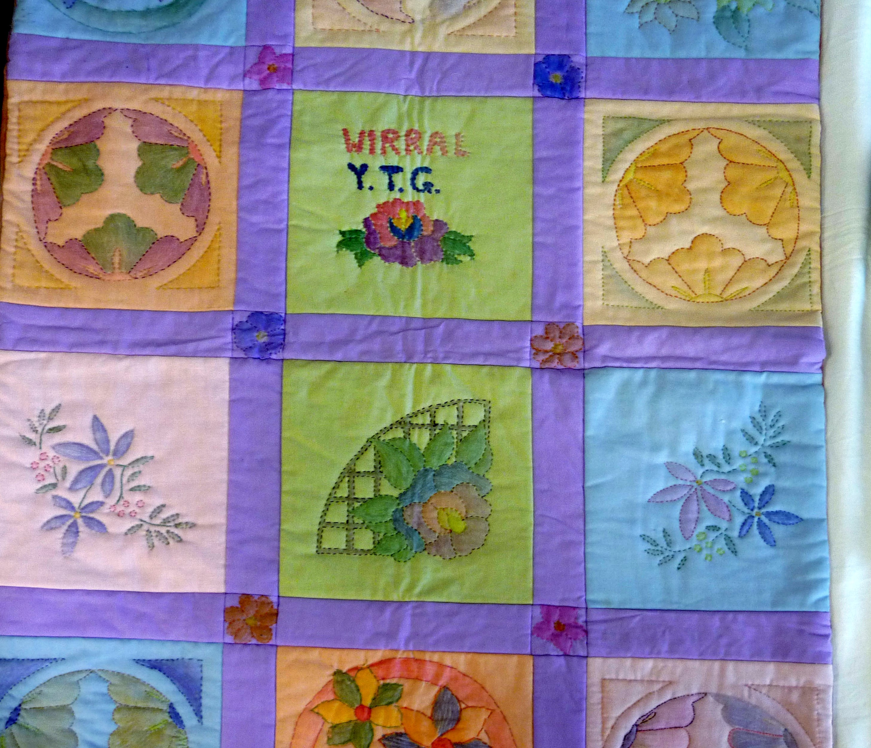 Shadow work quilt by Wirral YE
