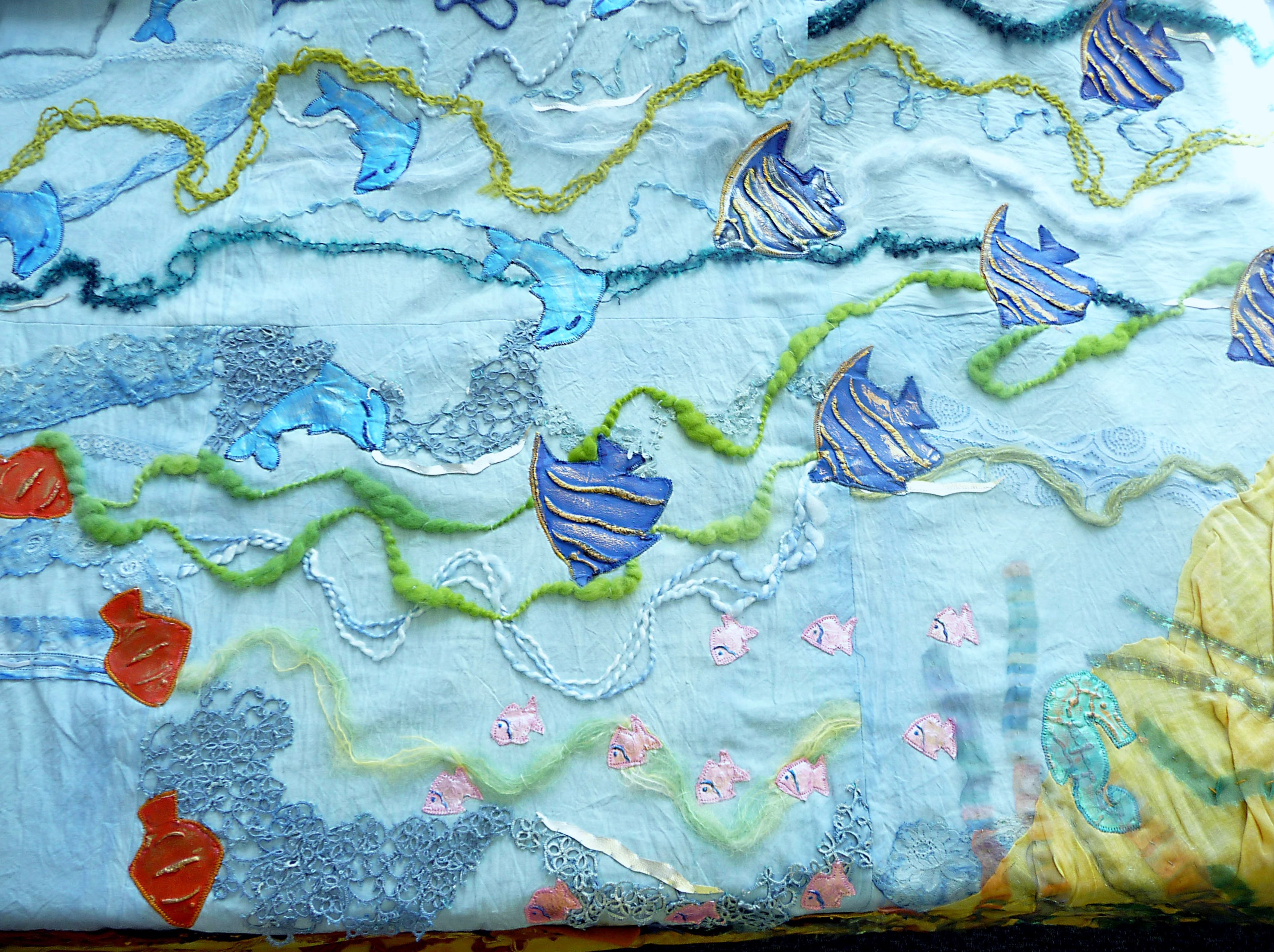 UNDER THE SEA, wall hanging by Merseyside YE