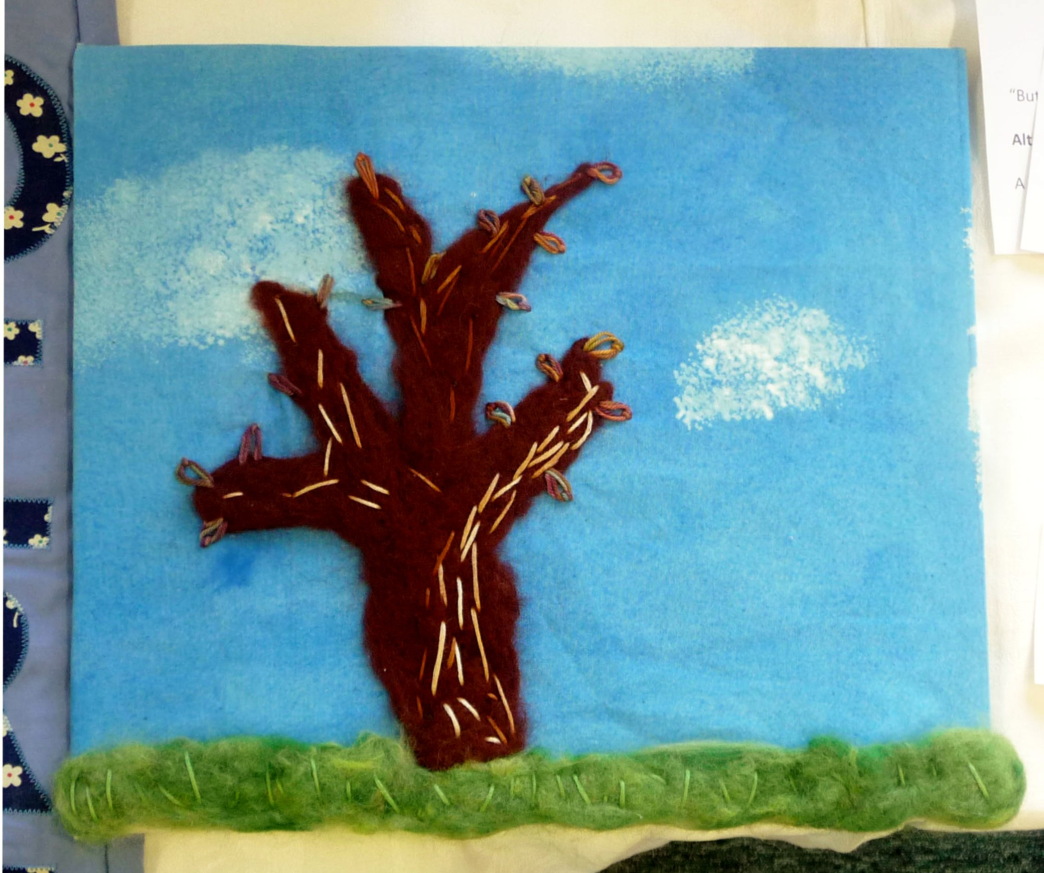 AUTUMN TREE by Lilly Firzgerald, felted tree, DeDenne Competition 2012-2013 Individual Entry, Highly Commended