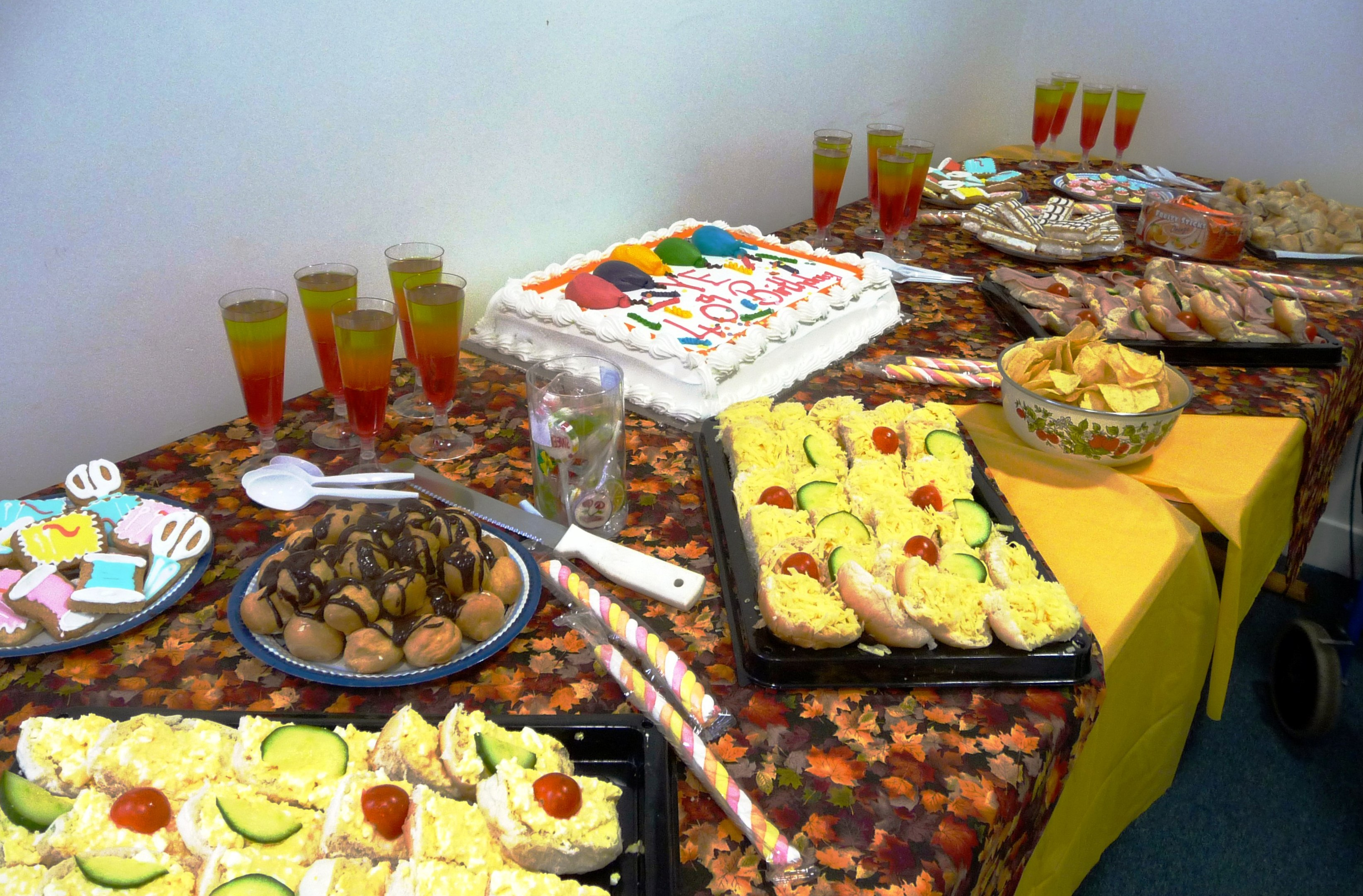 buffet prepared for YE 40th Birthday Party
