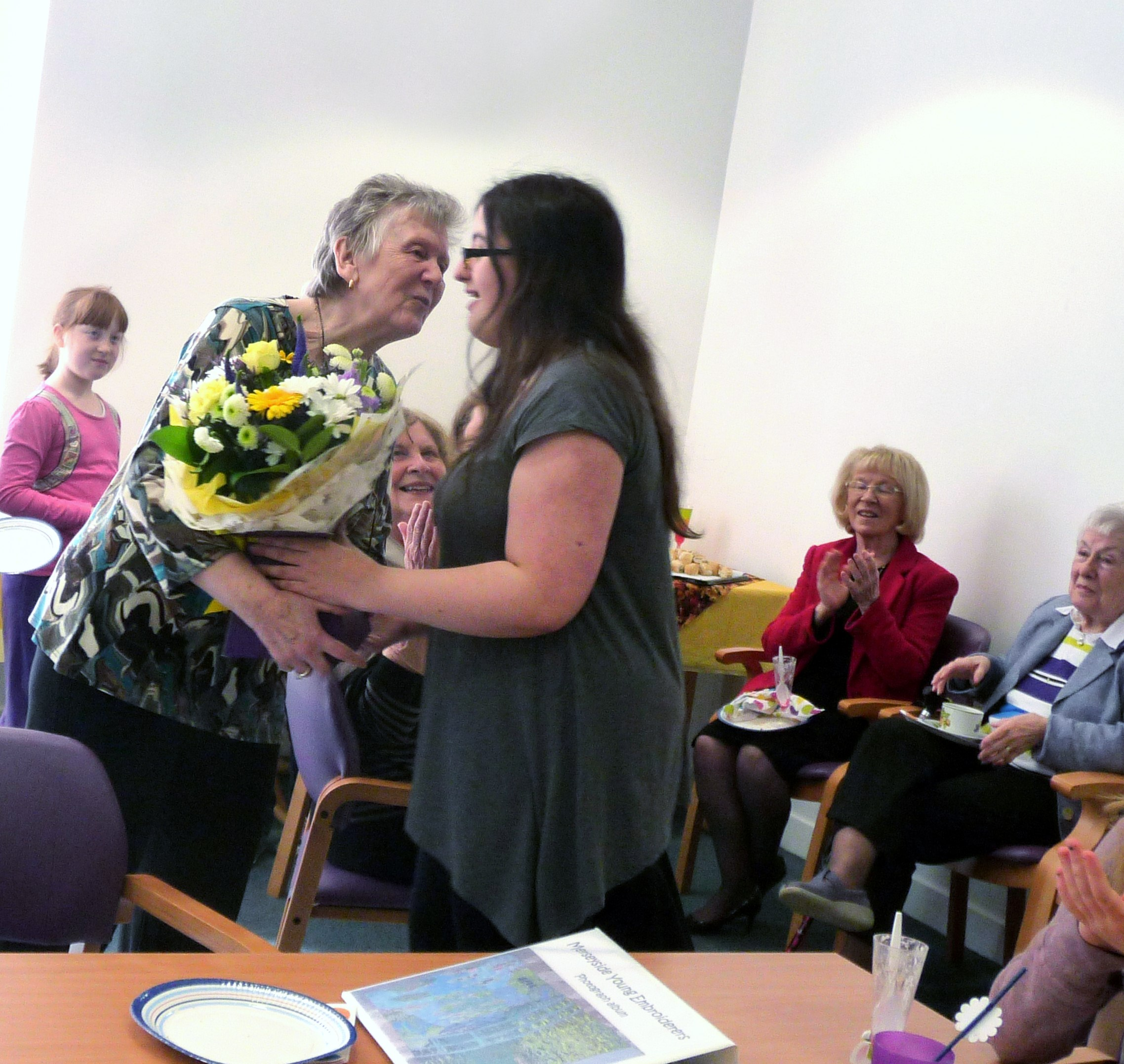 Sophie presented our YE Leader Val Heron with a bouquet