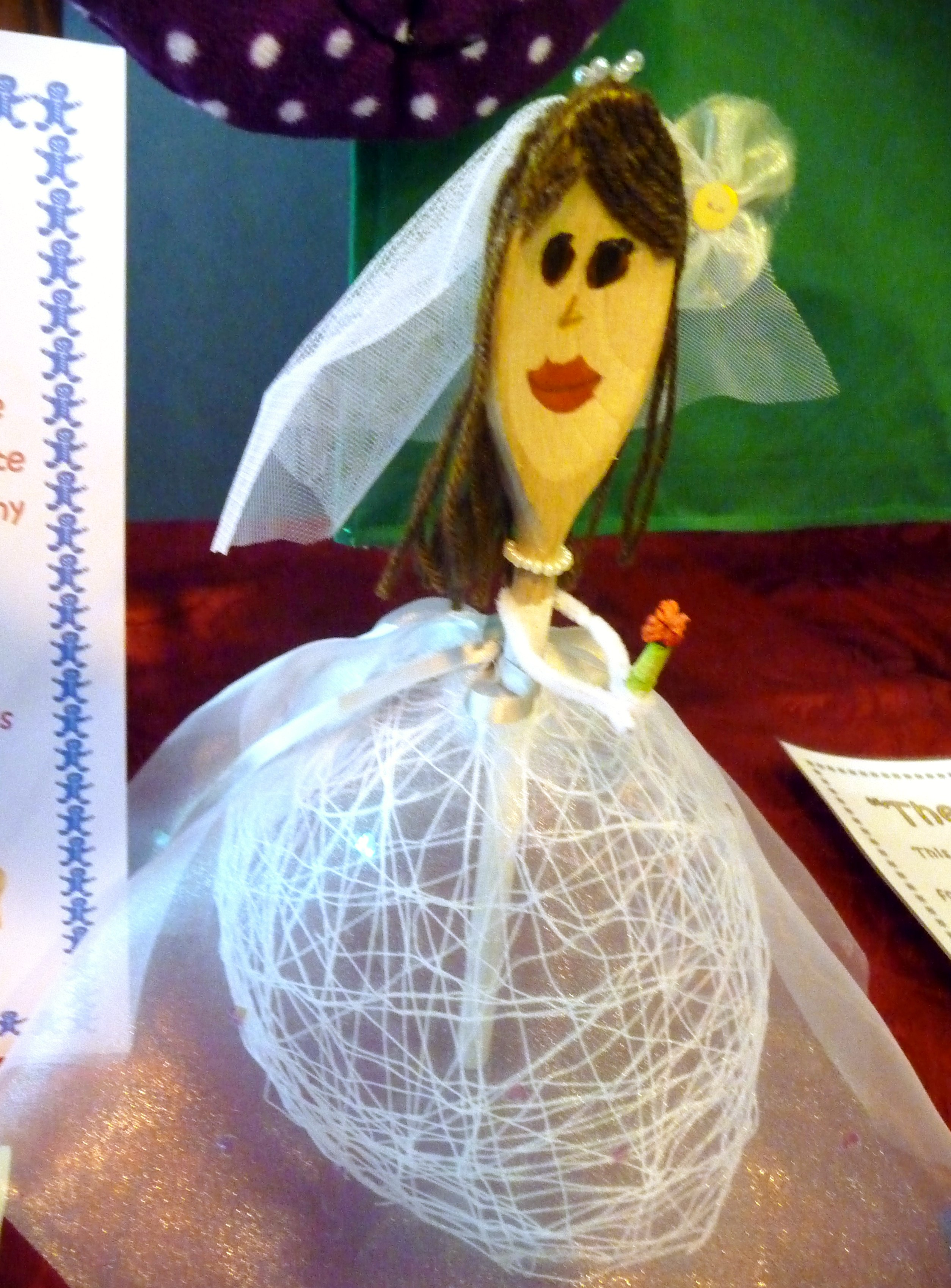 entry to 'Decorate a Wooden Spoon'  YE competition at 2015 MEG Summer Tea Party