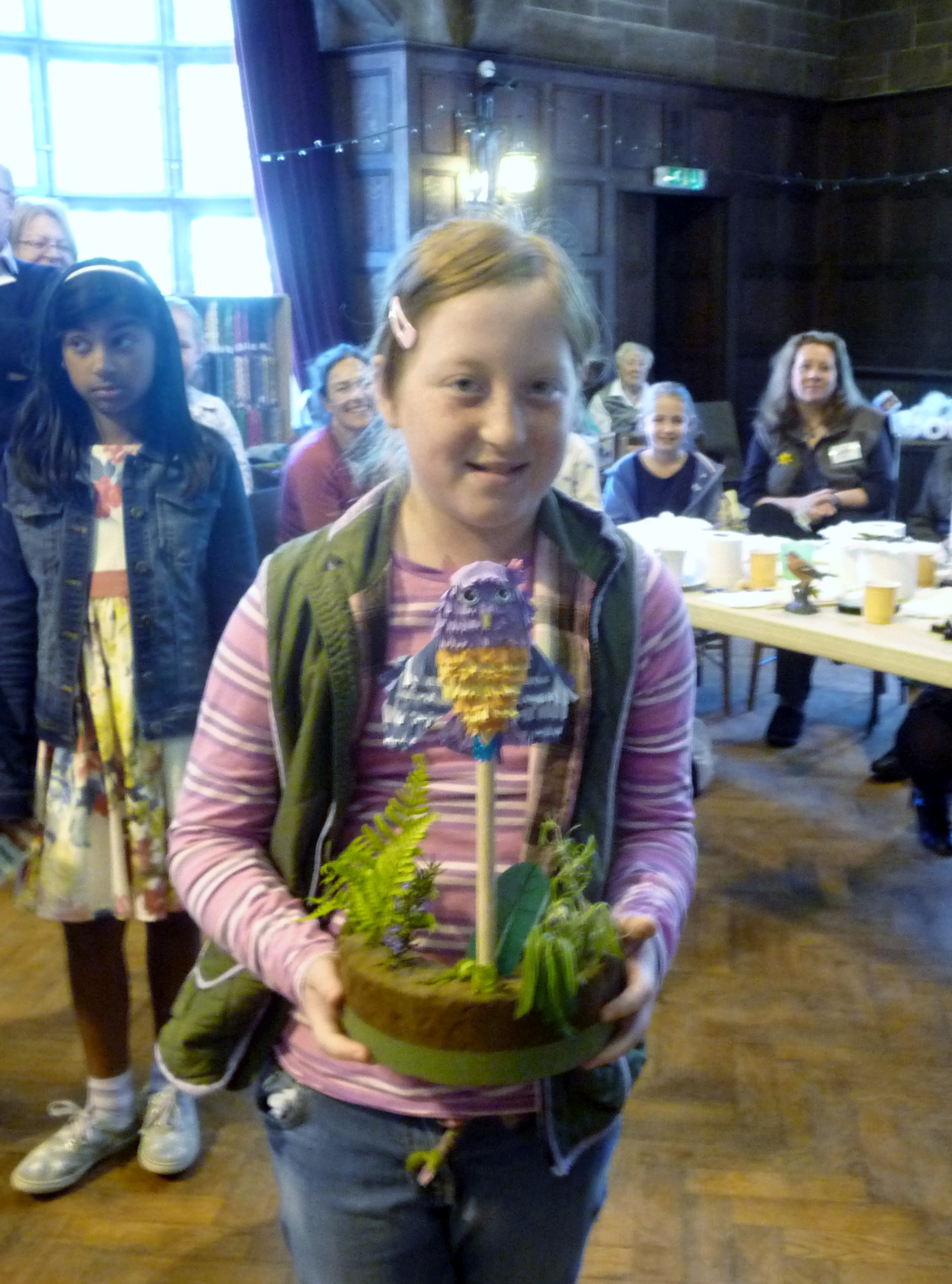 this is Merseyside YE Ailis, who was the winner of 'Decorate a Wooden Spoon' competition at MEG summer Tea Party 2015