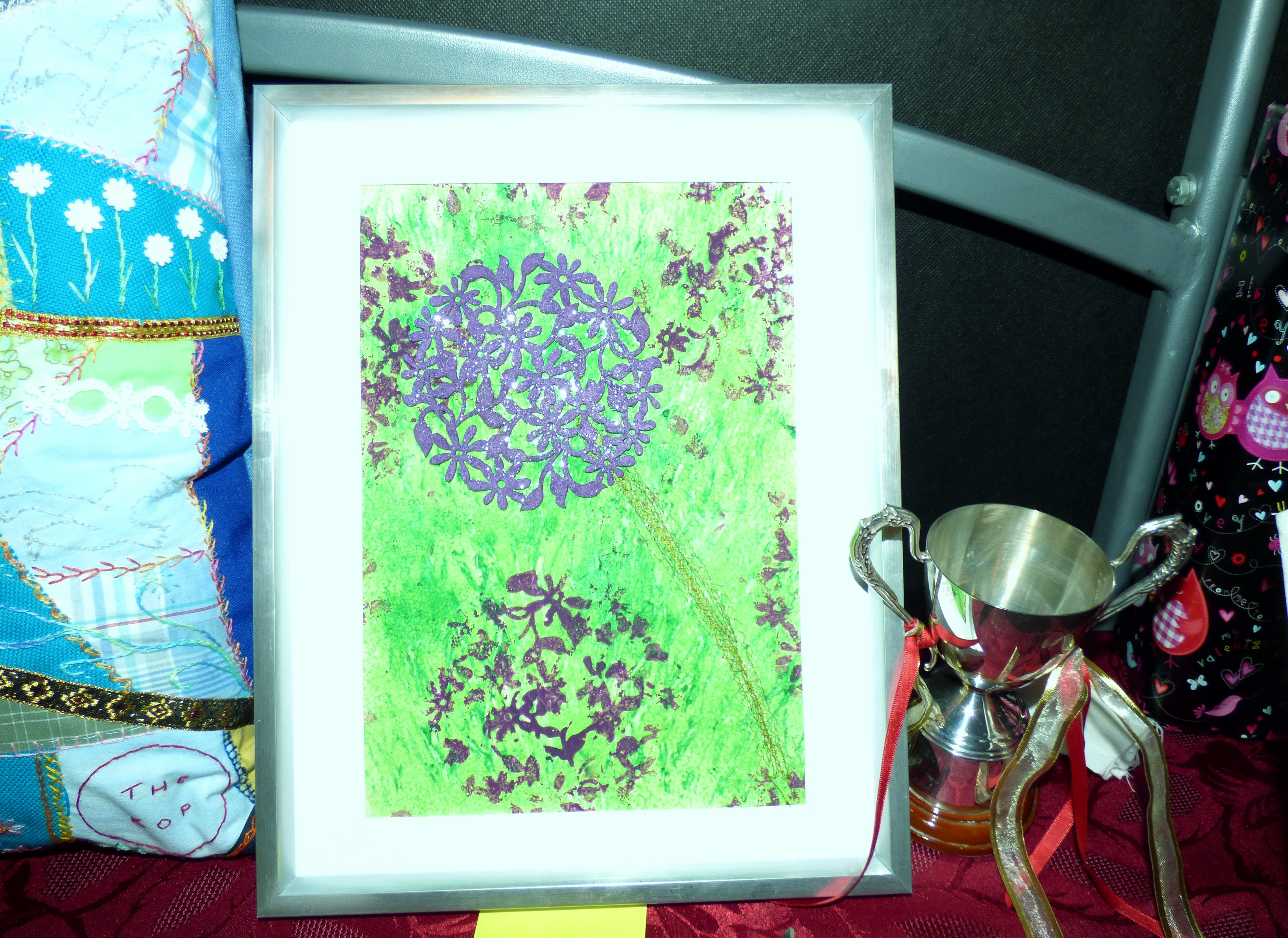 entry to YE competition and cup to be presented to Merseyside Young Embroiderer of the Year at Winter Fair 2016