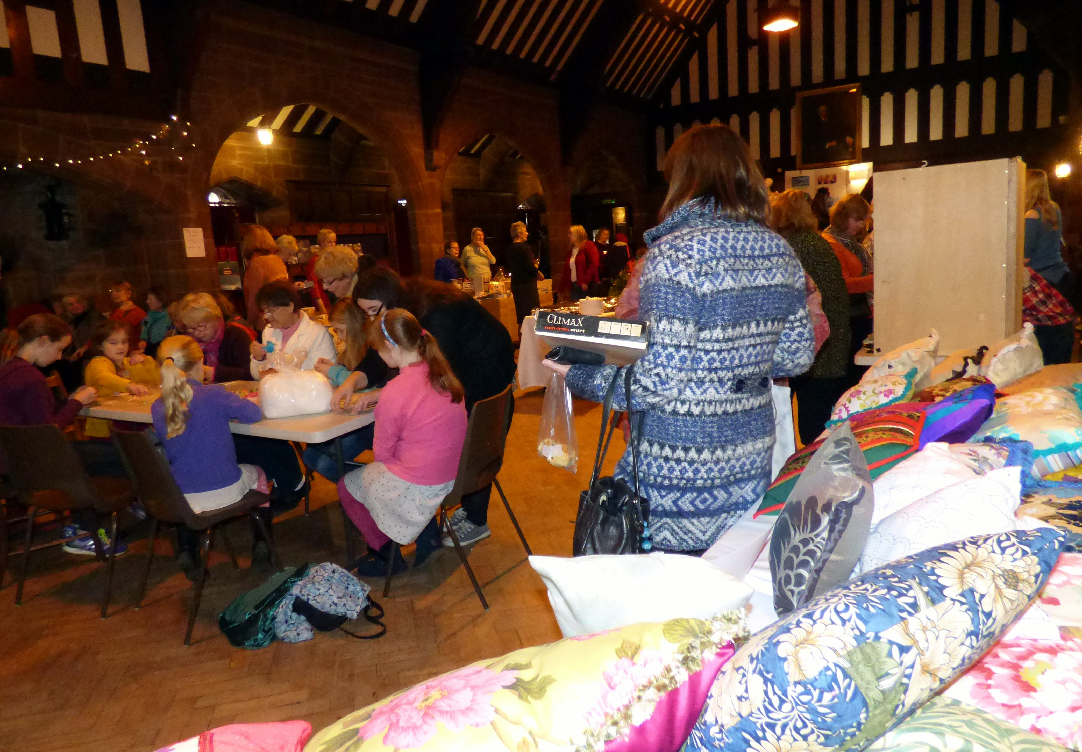 MEG winter Fair 2016 with our fundraising cushion stall in the foreground