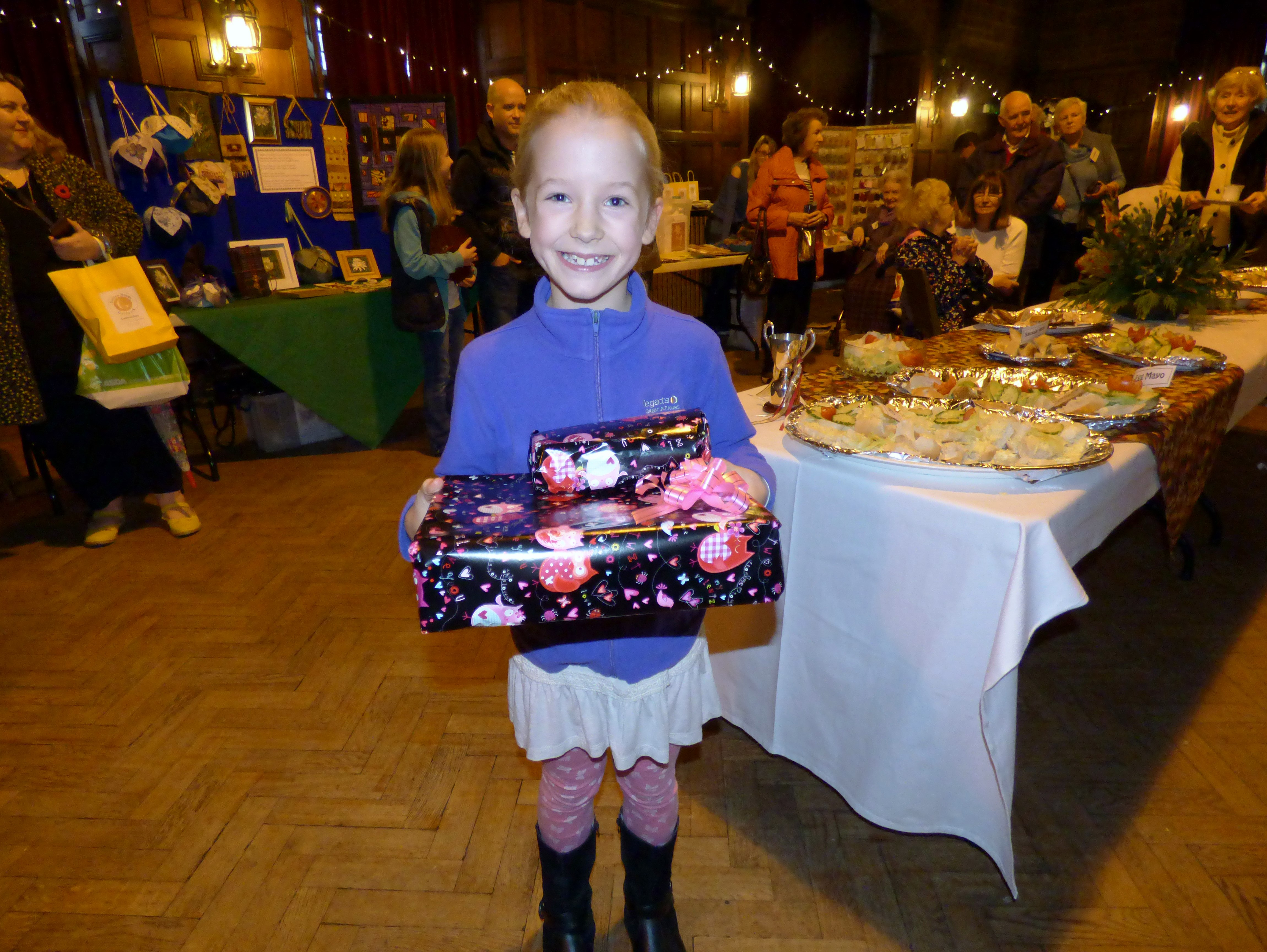 this is Esther Lewis with her prize for winning the YE competition at MEG Winter Fair 2016