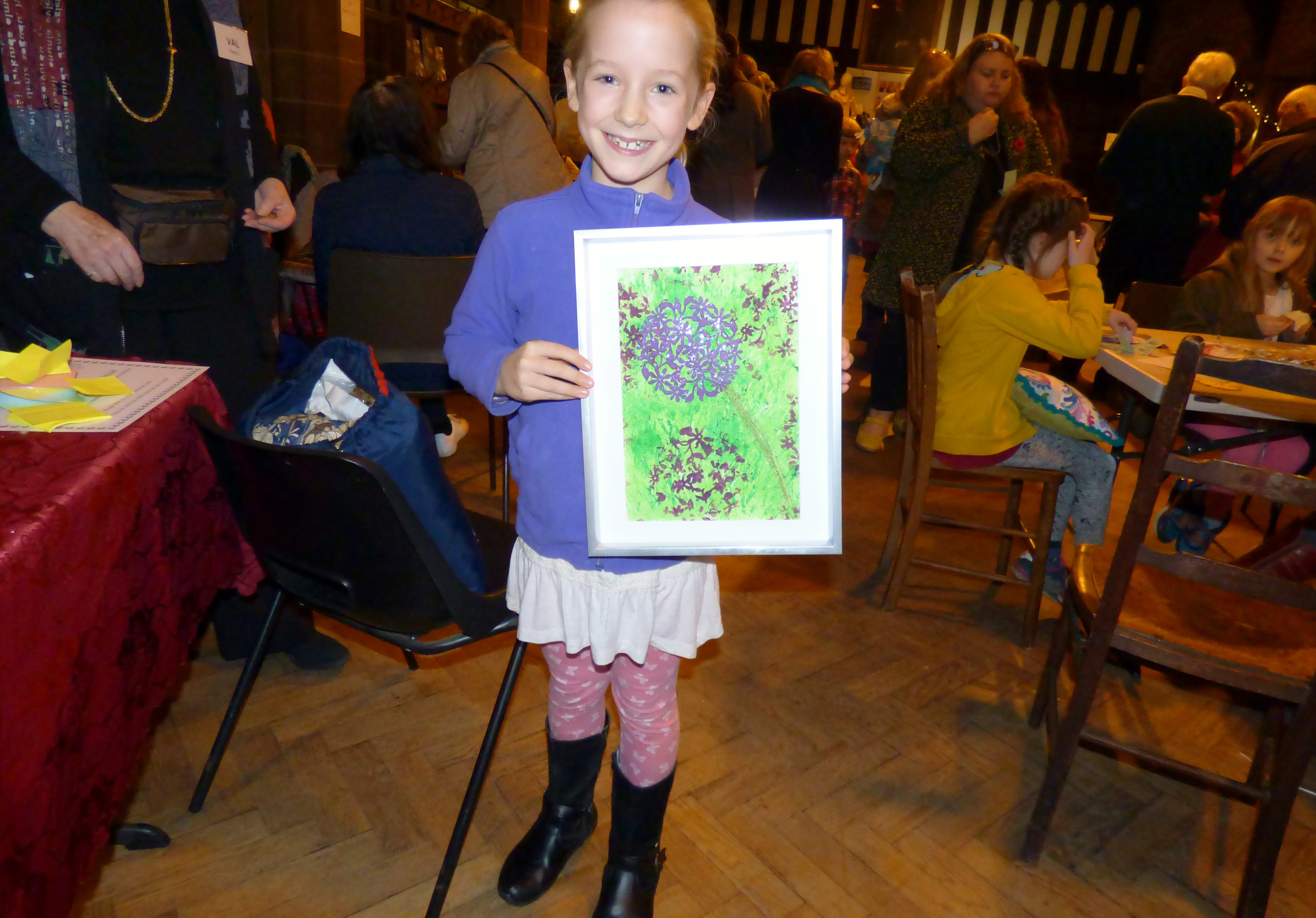 Esther Lewis with her winning entry to YE competition at MEG Winter Fair 2016