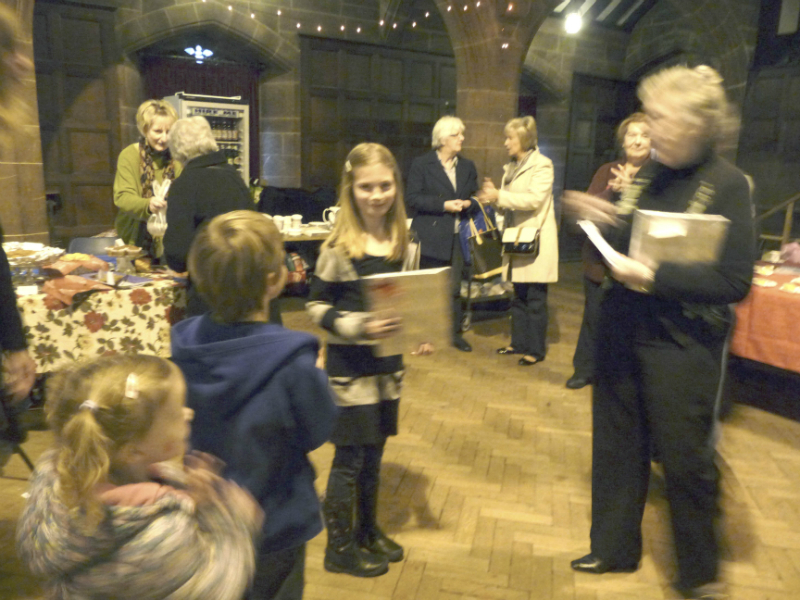 Grace receiving her prize for the best doll in the younger age group