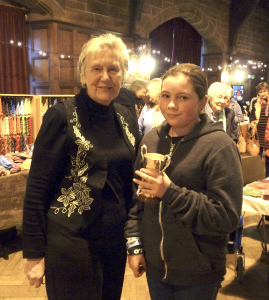 Merseyside Young Embroiderer of the Year and YE Leader Val Heron