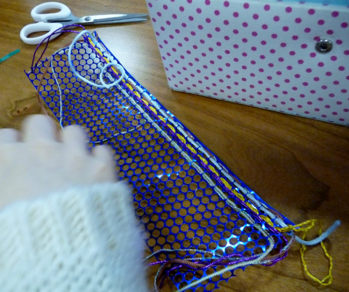a weaving is taking shape