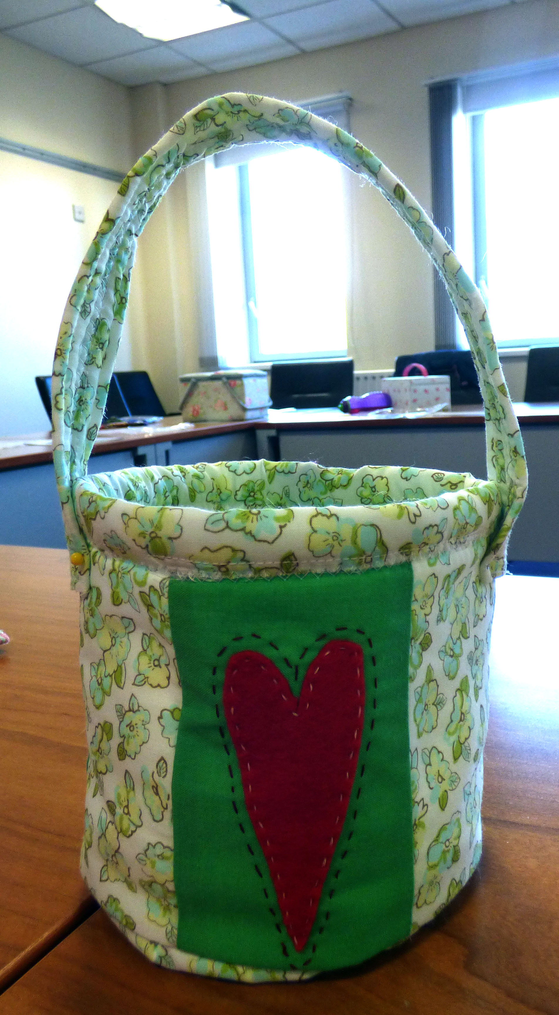 YE group April 2017. This is a sample of the baskets we are making today. This sample was made by our YE Leader Val Heron.