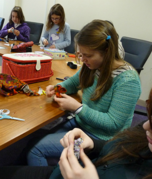we made flower brooches at the January meeting